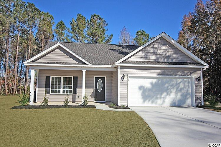"Home is Under Constructiont -The ""Busbee"" Floor Plan located in the highly desired ""Barons Bluff North"" Community offers all of the right features and benefits Features include but are not limited too: Great Open Floor Plan with no wasted space, Large Foyer area, large eat in Kitchen, , Covered Rear Porch with separate 10x14 Grilling Patio- All of the homes in Barons Bluff North come STANDARD with the Luxury of Natural Gas (Tank less Hot water Heater, Gas Heat, and Gas Stove and Oven), 36"" and 42"" ""Profiled"" Kitchen Cabinets with Crown Molding, Stainless Steel Appliances, Large Pantry, Completely trimmed and painted garage with drop down storage access which is floored for your convenience, ""Low E"" Energy efficient windows, upgraded insulation package, 30 year Architectural Shingles, Landscaped and Sodded Yard, and so much more. All of the homes in Barons Bluff North are built with a ""Maintenance Free"" Lifestyle in mind. Barons Bluff is a beautiful community with Lakes, Street Lighting, Sidewalks, Pool, and Cabana Area. Barons Bluff North in Conway's most highly desired New Home community that is very conveniently located near HWY 22, International Drive, Carolina Forest, and Award Winning School District. Call or visit us online today and find out why Beverly Homes is our areas premier Builder!"