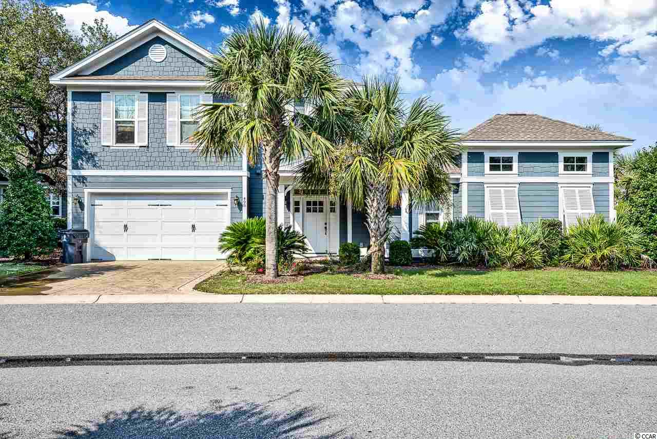 Located on a corner lot, this home is one of three built in Banyan Estates with this unique floor plan making it one of the most desirable homes in Banyan.  This home offers a large downstairs master suite as well as a den with bath that could also be used as another downstairs master.  The kitchen/dining/living is open and offers the perfect place to entertain and for families to gather on vacation. Upstairs you will find two additional bedrooms, one with an ensuite bath and another with a conveniently located hall bath.  The fun continues as there is a private courtyard area that offers a pool and a covered area for relaxing and watching your favorite college football game.  If you prefer a quite place for coffee, the screened porch just off of the dining area will allow you some quite time.  If you are looking for an investment property or a second home, North Beach Plantation offers amenities that are second to none.  Owners and guest enjoy a beautiful oceanfront recreation area with pools; swim up bar; lazy river; food and beverage service; a beautiful beach area; onsite restaurants and shops; shuttle service within the resort and to Barefoot Landing; Cinzia Spa and Beach Fit Fitness Center; all of this and more plus Barefoot Landing is conveniently located across the street.