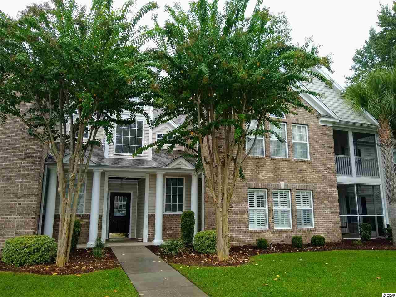 Meticulously maintained as a second home; this Light & Bright condo is located on the fifth hole of the award winning golf course of Wachesaw Plantation East; a gated community in Murrells Inlet. This home is all on one spacious level & is move in ready. Updates: NEW HVAC in NOV 2016 & Fresh, neutral paint throughout. Storage abounds in the large extra room just off the kitchen with plenty of space to keep things organized. You will not tire of the tranquil surroundings as you relax on your front screened porch, grill out on the back patio and take in the view of the 5th green and rolling fairway. The master suite boasts two walk-in closets, linen closet, dual sinks & glass door step-in shower. The 2nd bedroom has a french door for direct porch access. Ample size 3rd bedroom for your guests off the hallway as well as the second bath and laundry room (washer & dryer included). Wachesaw Plantation East is an established, gated community that offers SO much for such a LOW HOA fee. The list: 24-7 uniformed security, HTC Fiber Optics recently installed offering High speed cable & Internet. Surrounded by a beautiful, affordable golf course, walking /fitness trails throughout, nice pool, tennis courts and workout room. PRIME Location:1 mile to the famous Murrell's Inlet Marshwalk, or 1 mi. out the back gate to the marina on the Intercoastal waterway with public boat landings. Close to the pristine beaches of Huntington State Park, Brookgreen Gardens, Hospital and shopping.