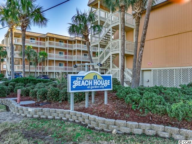 "The minute you pull into the Beach House complex off the Atlantic highway, step out of your car, hear the ocean, the birds singing, you will realize you have reached your ""Home away from Home!""  Upon entering this ideal ""mid"" located unit, second floor, two bed, two full bath, ocean view condo, the tiled floor hallway will lead you to a full ""workable"" kitchen, featuring all the appliances to provide for the family. This kitchen features ample cabinets and a full breakfast bar that can seat four comfortably. The long, tastefully furnished living room offers all the comforts of home, so take the weight off your feet a while and relax.. Later, step out onto your private 11' x 8"" balcony and enjoy your own ocean view. This would be perfect place to enjoy evening cocktails or entertain friends on your Covered balcony at sunset. The two bedrooms are located off the corridor, one either end. The spacious master bedroom features a tiled en suite bathroom with vanity...... For a moment, imagine yourself waking up to the sound of the ocean, an ocean view greets you through the window and access to the balcony steps away from your bed, well dream no more!   The second bedroom is ideal for visiting guests or family with a separate ""full"" bathroom that can be accessed via the corridor.  Message from owner: ""its hard to let go of all the family memories created in this condo, we have been spoiled over the years"".  Beach House offers the most amazing Oceanside sundeck, spend afternoons sunning yourself then take a dip into the sizable pool. This complex has direct private access to the beach, feel the sand between your toes! Fully furnished and move in ready.  ""Stacker"" washer/dryer included. Impact glass windows and sliding doors installed 2015. Close to restaurants, mall shopping and golf courses.  Square footage is approximate and not guaranteed. Buyer is responsible for verification."