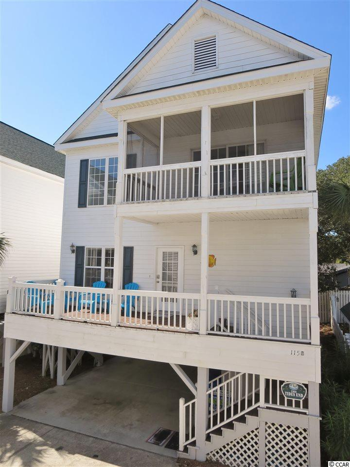 115B beach on 9th is situated within one block of the beach, is located a half mile south of the Surfside Pier and a small downtown restaurant district. The home offers four bedrooms, four bathrooms, approximately 2150 heated square feet and sells turnkey furnished. The interior has laminate floors on the main level, a bright and cheery color scheme while providing a warm and comfortable beach atmosphere. There is a screen porch off the first-floor bedroom and dining area, deck at the entrance and a screen porch off the master bedroom. The exterior is wrapped in concrete fiber siding, and there is an 8x8 ground level storage room. Beach on 9th homeowners' association provides a large community pool, sundeck and BBQ area, common maintenance and landscaping, irrigation, trash/recycling pickup, cable/internet, and pest control for the house. Why rent when you can own your very own piece of the Grand Strand?