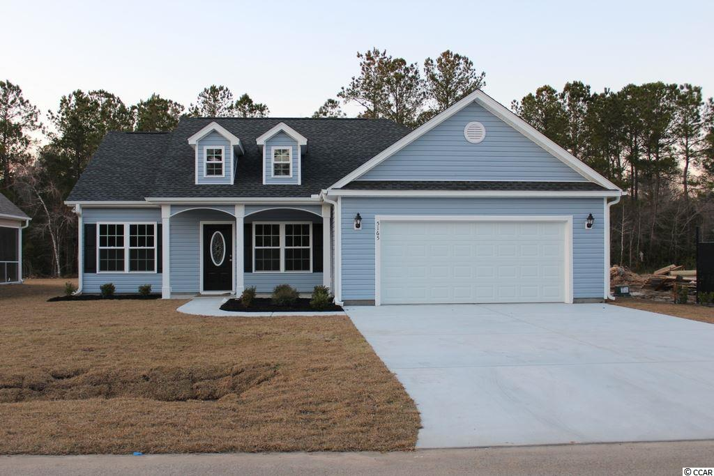 "NO HOA, large home sites! Beautiful and popular Pecan plan has open living areas, split bedrooms, front porch and large rear screened porch. Living area has vaulted ceiling, ceiling fan with light, spacious dining area, large kitchen with lots of solid wood custom cabinets with crown molding and knobs, stainless steel appliances, including gas stove, refrigerator, wrap around breakfast counter and pantry closet. Master bedroom has vaulted ceiling, fan with light, large walk-in closet, 5' walk-in shower and raised height vanity with 2 sinks. Split bedroom floor plan. Carpet in all the bedrooms and upgraded wood look waterproof luxury vinyl in living area, dining area, kitchen and hall, vinyl floors in the bathrooms and laundry room. Rinnai tankless gas water heater, gas heat. Upgraded interior trim includes 3 1/4"" casings and 5 1/4"" baseboards. Low E glass windows, energy efficient homes. Boat and RV parking allowed. Spacious finished/painted 2-car garage, with automatic door opener, pull down stairs to attic storage above. Irrigation system, gutters, sodded and landscaped yard. Natural gas community. Close to International Drive, quick/easy access to Myrtle Beach. Basic Restrictive Covenants. Photos and video are for illustrative purposes only and may be of similar home built elsewhere. Square footage is approximate and not guaranteed. Buyer is responsible for verification."