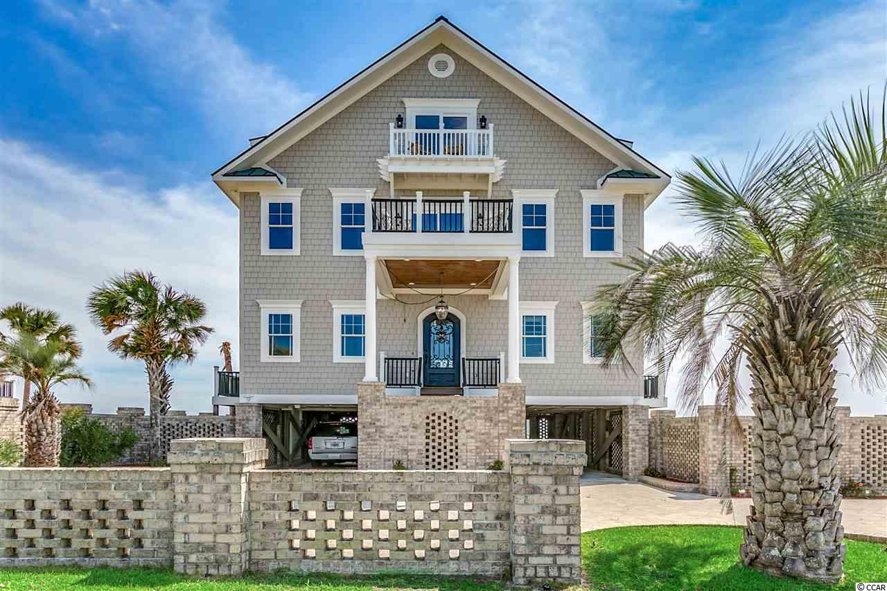 Dream Home located on the south end of Garden City Peninsula inside the gates of Inlet Harbor(24hr security guard). Fully furnished! Enjoy total privacy from this Gorgeous 6 BR 7.5 Home. Take in the sunrise and sunset from many of the  rooms in the house or off of any of the porches and balconies overlooking the ocean and the Inlet. Property features one of the few lots in the area with a concrete seawall. Take an evening boat ride out of the Marlin Quay Marina directly across the Inlet the  to the restaurants and entertainment  the Murrells Inlet MarshWalk offers daily or an all day fishing trip to the Gulfstream.  Home features tile floors throughout. Enloy the ocean breeze  and views from the wrap around porch overlooking the ocean and pool. Outdoor shower and bathroom. Every bedroom features views of the ocean or inlet. This home was built for entertainment with open floor plan and a second level entertainment area including a wet bar.