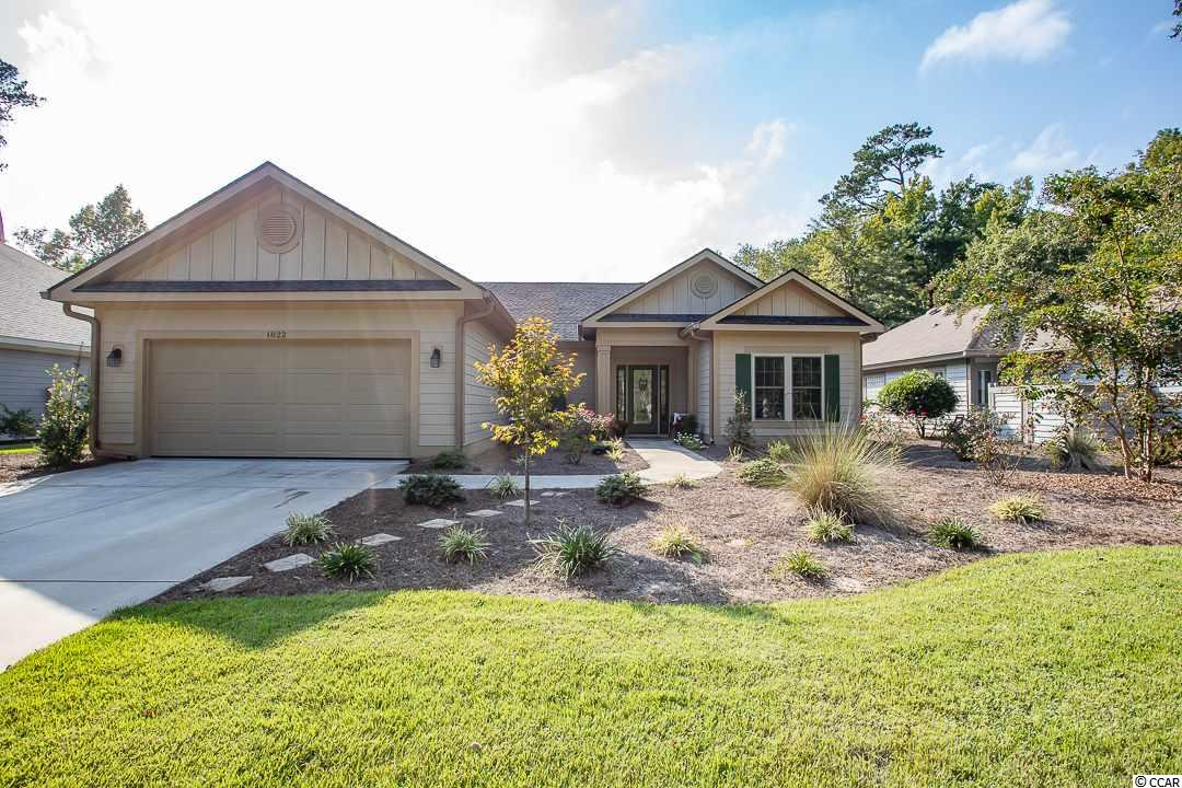 What a magnificent home!  This beauty was custom built in 2017 and has all the upgrades and uniqueness one could ask for!  A 3BD, 2BA home with a double sided fireplace in the middle of the great room to sun room that overlooks the 10th Tidewater green and lake.  This won't last long and is a MUST SEE!
