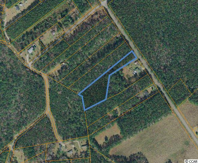 Mostly wooded, secluded acreage tract that is close to the river and close to all the area has to offer.  Located just off Hwy 57, this parcel is only about 8 miles to the oceanfront, only 3.5 miles to Hwy 31 and and close to North Myrtle Beach. The property is rectangular in shape with a more narrow entrance and wider rear, leaving the potential for privacy with a home built in the rear of the property.  The zoning is CFA which allows for residential and some commercial uses.