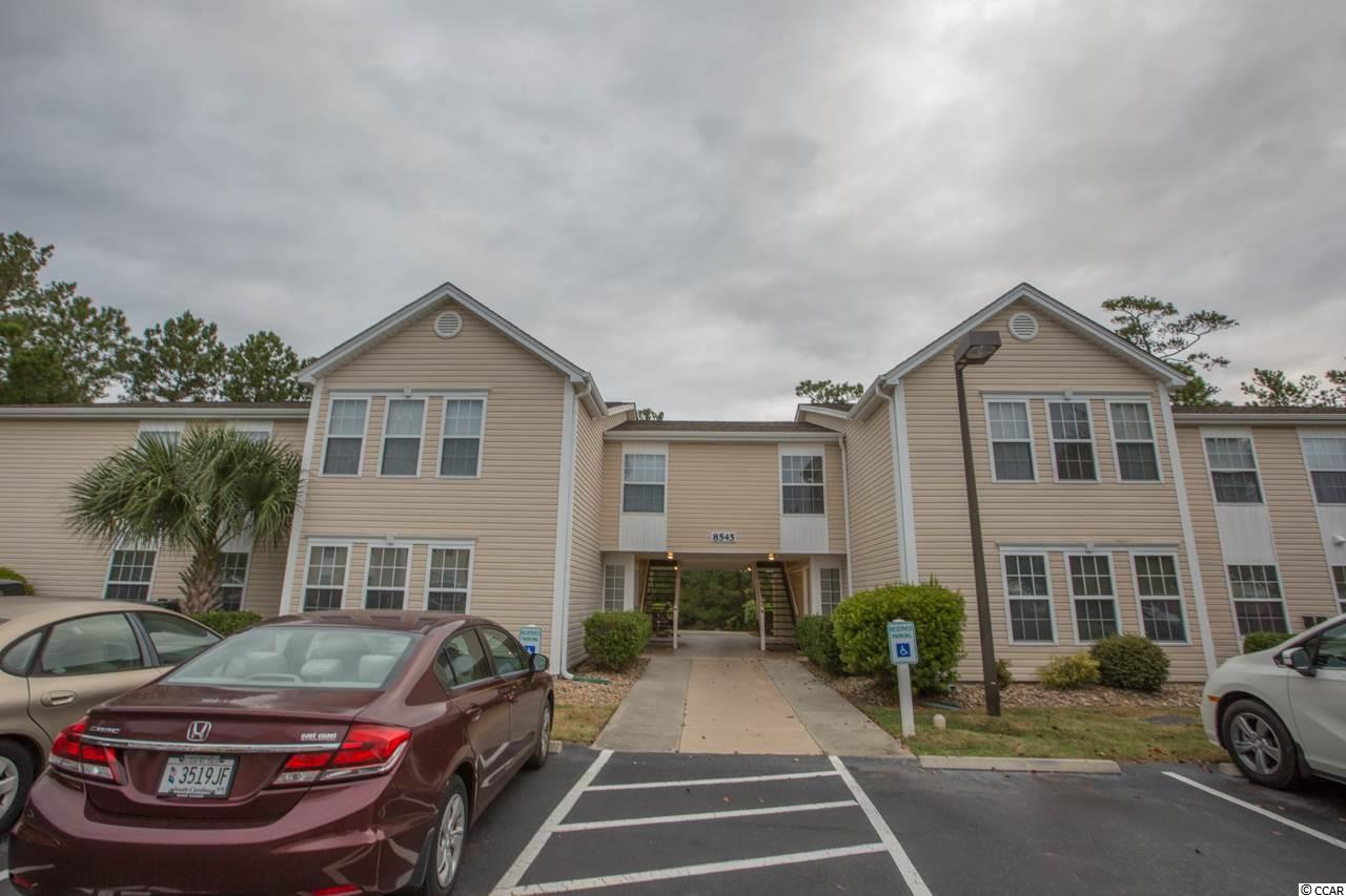 This 3 bedroom, 2 bath condo is 2.3 miles to the beach. A move in ready primary or vacation home that has been freshly painted with neutral colors. Offering an open floor plan with vaulted ceilings, a Carolina room, carpet and wood look vinyl in wet areas plus a fully equipped kitchen. Walk over to the community pool or take a short drive to the Murrells Inlet Marsh Walk and enjoy some of the finest seafood in the world with beautiful views of the water. Championship golf courses, fishing, boating, festivals...call today to schedule your appointment to see this condo! Square footage is approximate and not guaranteed. Buyer is responsible for verification.