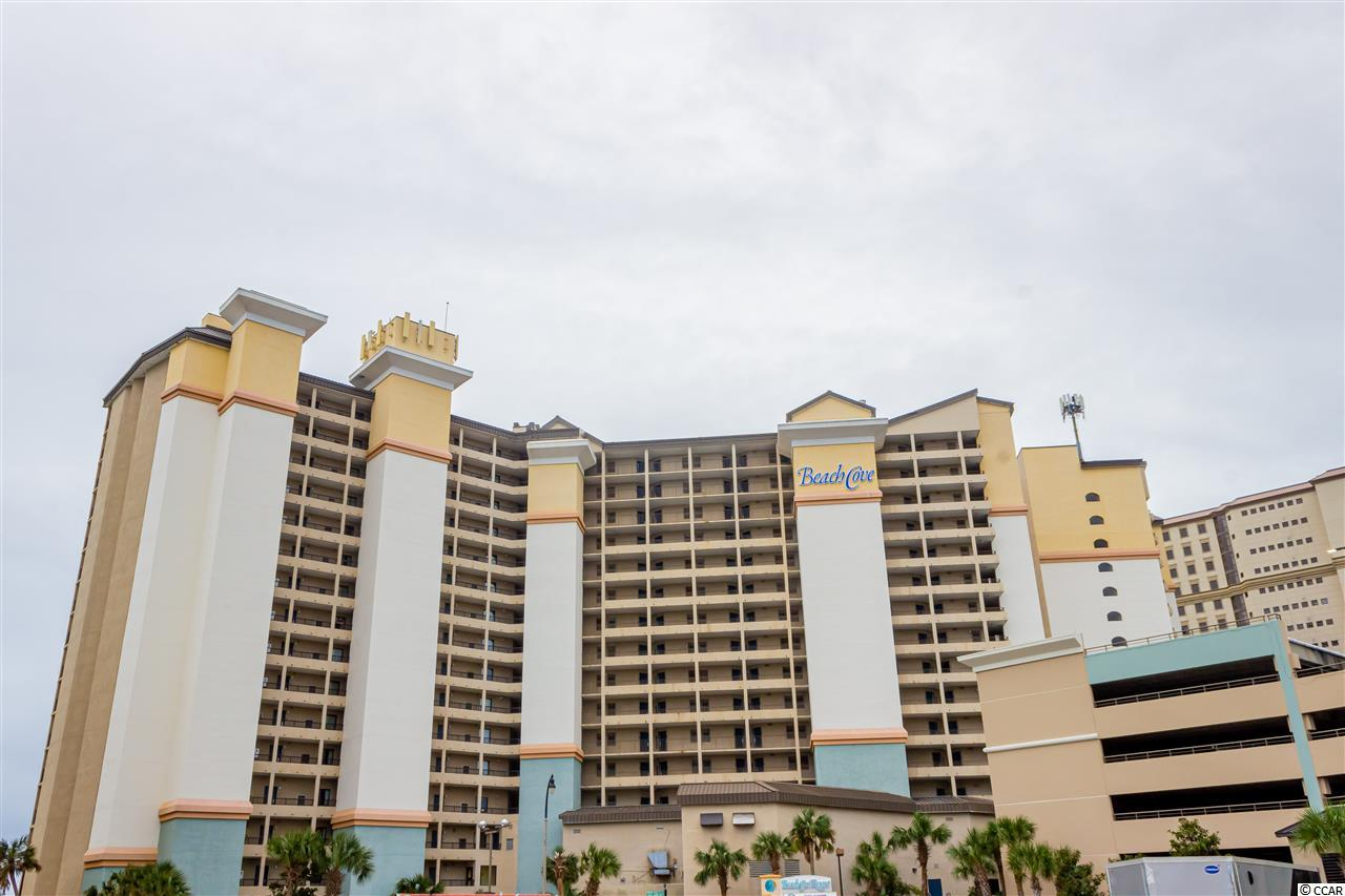 Beautiful Oceanfront 1 Bed 1 Bath Condo now available in the tropical oasis that is Beach Cove Resort. This condo provides a breathtaking  view as the backdrop of your time spent here. Fully furnished and ready for your immediate use as well as to begin generating income from the tried and true rental history of this condo. Fabulous amenities including the popular tropical outdoor pool deck, 3 outdoor pools, a 350ft lazy river, 3 oceanfront whirlpools, indoor pool and indoor whirlpool, a relaxing sauna, and the new Town Center at Beach Cove Resort with something for  everybody including an arcade, bar & grill, and coffee shop. You will make great memories right there at your resort but even more when you venture out to the nearby Barefoot Landing and area attractions where you will find all the shopping, dining, entertainment, golf, and nightlife that has made The Grand Strand famous. Don't wait, don't hesitate, go and see it for yourself.