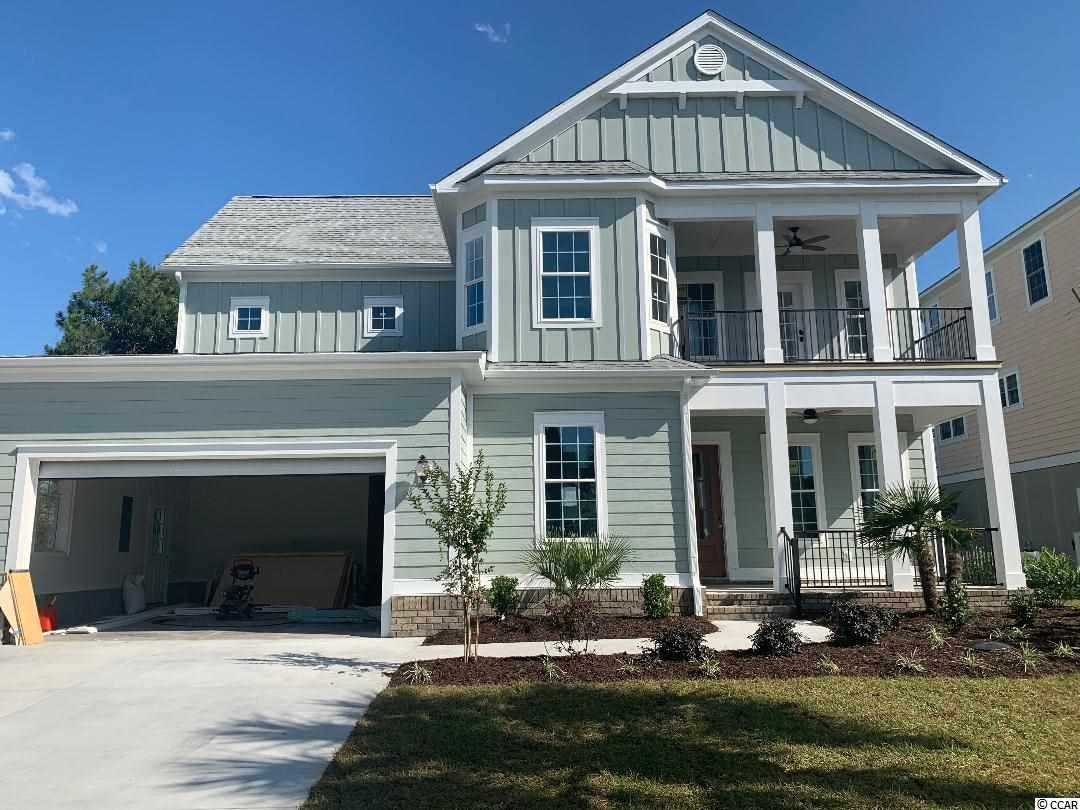 """Don't miss out on this Two Story custom home on this private wooded lot in Waterway Palm Plantation.  Open concept kitchen/great room with coffered ceiling, fireplace and built-ins. Kitchen with granite, upgrade cabinets, backsplash, and stainless steel appliances. Master on first floor with tray ceiling large walk-in closet, double vanities, shower and garden tub. Study and separate dinning room all on the expansive first floor. Second floor consists of three large bedrooms a gathering room and a craft room/ office with Granite in all bathrooms. Two porches for relaxing. The home will have many upgrades, 7 1/4 """" baseboard, 5 1/4 """" crown molding,bullnose corners, and granite. Hardi Siding with brick skirting. Excellent attention to detail. Plenty of time to pick your colors, flooring, cabinets, and lighting."""