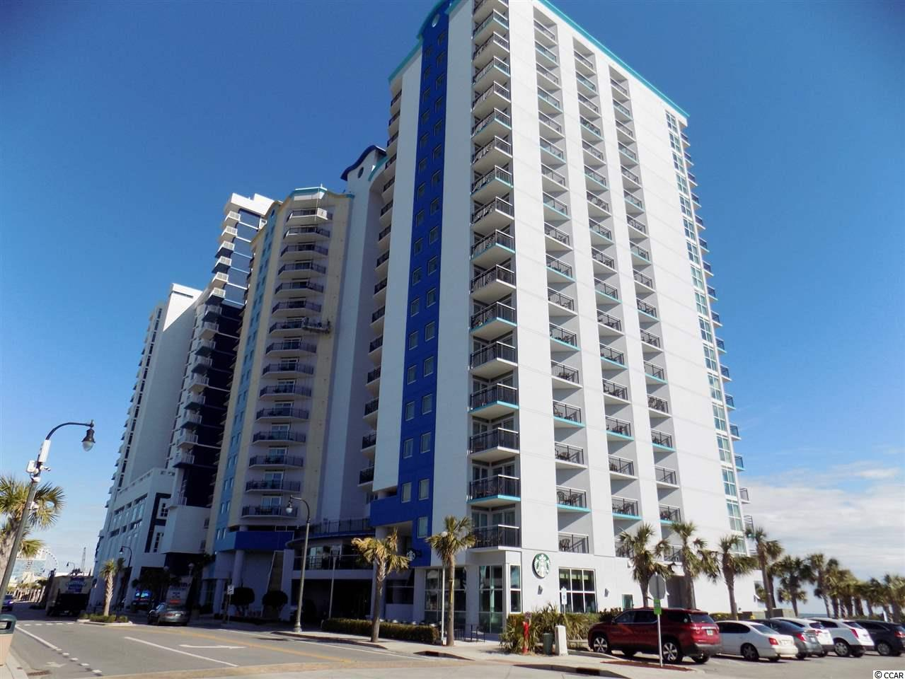 Stunning views abound from the three decks off this gorgeous oceanfront condo on the Boardwalk in the heart of Myrtle Beach. This is a three bedroom lockout unit with enormous rental potential. Entering through the main exterior door, you'll find a large foyer area. On one side there is a one bedroom unit with kitchenette, full bath and ocean view deck. On the other side of the foyer you will find the entrance to the large two bedroom unit with full kitchen, dining area and spacious living area with floor to ceiling windows giving you spectacular views. Rent one side while using the other or enjoy the entire unit with plenty of room for a large group. This unit comes fully furnished - just bring your suitcase! The Bay View Resort is a full service resort with a Starbucks coffee shop, fitness center, indoor pools, lazy river, outdoor water park and quick access to the beach. The HOA fee includes absolutely everything including insurance, HO6 policy, water, electricity and telephone in the unit, cable, internet and trash service.