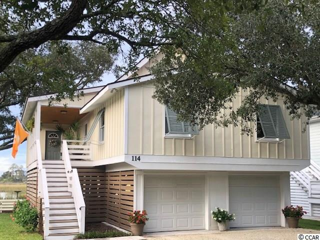 "Opportunity to own Pawleys Creek cottage in quiet neighborhood of Creek Point, a small hidden community of 7 homes East of Hwy 17 on the mainland side creekfront, all with their own private boat docks. This  4BR/3BA cottage was remodeled in the fall of 2015. Imagine...living on ""Comfort Lane"" in your own raised creek cottage, perfectly named ""Stillwaters""...enjoying a boat ride to meet friends at the beach, early morning kayaking or paddleboarding, or just reading a book on the deck in the afternoon breeze...it's all here. You will find great flounder fishing just a 'stones throw' from the dock, and can catch blue crabs in the crab trap right at the dock, as well as filling you own minnow traps. No more buying minnows at the local bait shop. Below you will find outdoor fun w TV sitting area, great for entertaining family and friends, reunions, cookouts, oyster roasts or just watching the game! Home comes with floating dock. Inside you will find updated living areas w great views, wood floors, beadboard ceilings, kitchen w granite counters, back splash, and SS appliances. Master suite on top floor w balcony overlooking below deck, with views of marsh and ocean. It has updated split vanities, tiled shower, and a jacuzzi tub. Late evenings on the porch or balcony upstairs are perfect for the romantic at heart, watching the moon rise, or taking in the fireworks on holidays. On the ground floor you will also find stairs to inside (and an elevator/lift) to avoid those rainy days coming home. You can also walk to the beach in 15 minutes, or ride your bike! Your very own MILLION-DOLLAR view...for much much less. Make plans to see it now, it will not last long !"