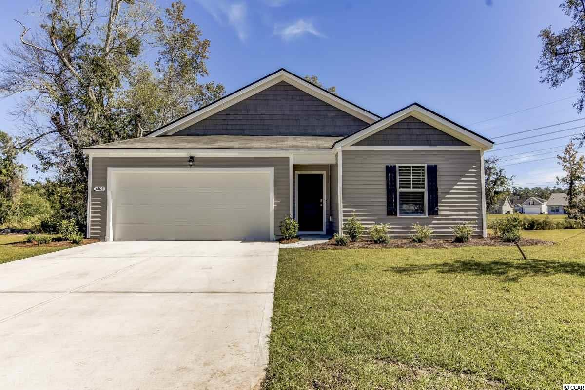 Come see this beautiful like-new home with 3 bedrooms and 2 baths, plus a 2 car garage, just built in 2019! Located on a cul-de-sac and not in a flood zone, the open floor plan features a spacious well-laid-out kitchen with a large island. In the kitchen you will also find granite countertops, a walk-in pantry, stainless steel appliances. Low-maintenance luxury floating vinyl wood plank floors throughout the main living areas, both baths, and the laundry room ... all speak to the impeccable details of this home. Sliding glass door off the kitchen lead out to the fabulous screened porch. The master suite is located off the back of the house and boasts a large walk-in closet, while the master bath includes a 5-foot walk-in shower, two sinks, as well as a cultured marble vanity top. One of the unique components of Oak Glenn includes its large home sites with a minimum of 20 feet of separation between homes. Oak Glenn is located within minutes to Historic Downtown Conway, shopping, restaurants, and the River Walk. While the photos describe the home well, it's truly hard to list all the indoor and outdoor features of this stunning home. Why are you still reading this?! Call now and schedule a tour today!  (Home not mapped on Zillow or Realtor websites)