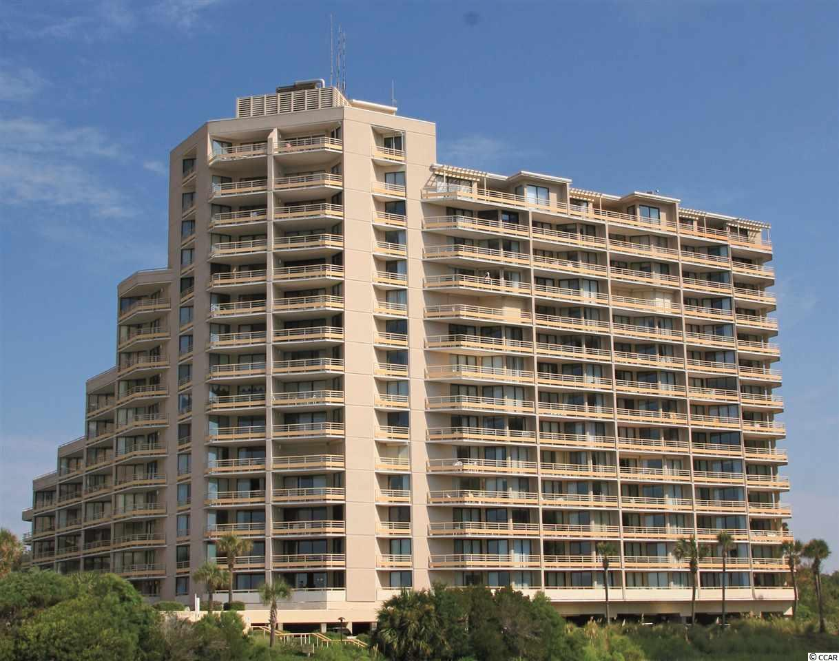 Amazing oceanfront views from the 8th floor end unit with wraparound porch. Beautiful Ocean Creek Plantation is a 57-acre gated community on the ocean across from Barefoot Landing.  Shops, restaurants & shows are all within walking distance.  Once inside the gates, enjoy the tree-lined, park like, walk through the community.  Beach club with pool, grill.  Spectacular views – ocean, creek, marsh, tennis center, pickleball court, putting green & much more.  All figs. & sq. ft. approximate.