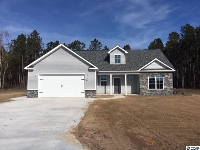 NO HOA! In Aynor school district.  This new construction home with 5 beds and 3 baths is on 1.24 acres  and has tons of upgrades!   Granite counter tops, 5x5 kitchen island, water proof vinyl plank flooring, stainless appliances, an upstairs den/game room.  Master has a soaker tub, large shower, and double sinks. 3 beds downstairs and 2 up.