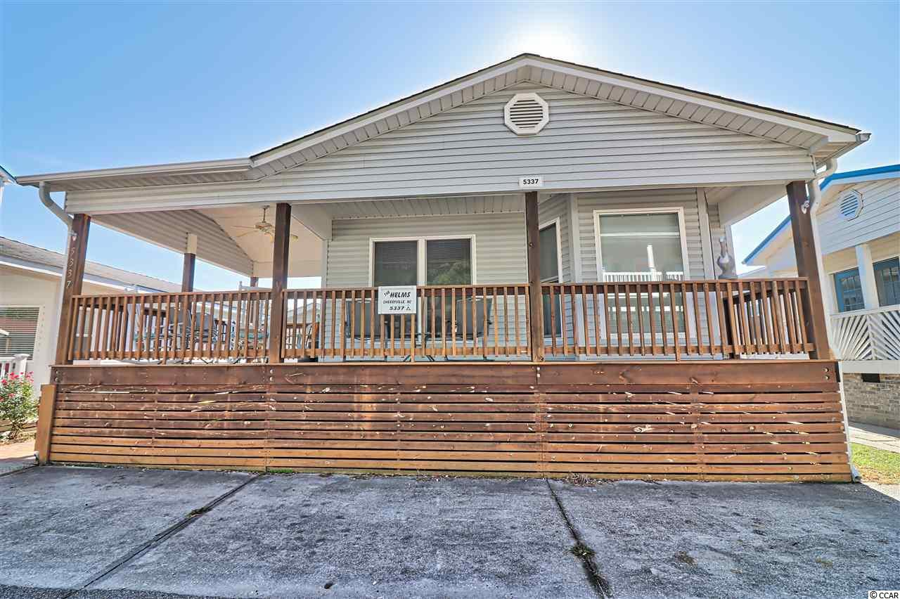 Fully furnished 2 bedroom and 2 full bath stick built home located in the award winning Ocean Lakes. You are sure to love the open and airy floor plan with vaulted ceilings in living room, dining area and kitchen. Both bedrooms along with the kitchen and  living room have ceiling fans. The home features ceramic tile flooring in all areas except the bedrooms which are covered with vinyl planking. There is also a washer and dryer inside the home that will convey. Both bedrooms have large closets for adequate storage. The master bedroom features a built in desk or vanity. The HVAC was replaced in August of 2018. You will enjoy relaxing on your large 10 x 10 covered side deck or on your 22 x 6 front covered deck. The front yard area is concreted for low maintenance and parking. There is a 10 x 12 detached storage shed for the golf cart parking and your beach belongings. Leave the salt and sand outside with the included outdoor shower with hot and cold water. This property would make for a great primary residence, second home or vacation rental. Are you familiar with Ocean Lakes? Ocean Lakes is a 300 acre ocean front complex with 24 hour security. You are sure to love all of the amenities that Ocean Lakes has to offer. Some of the amenities included are indoor and outdoor swimming pools, basketball courts, volleyball, shuffle board, horse shoes and much, much more. There is an awesome water park complete with lazy river and slides for all owners and guests to enjoy. Short term rental is allowed in Ocean Lakes.Please do not miss this property. View today. Square footage is approximate and not guaranteed. Buyer is responsible for verification.