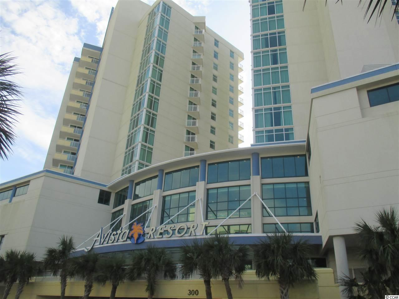 """This one bedroom condo at the beautiful Avista Ocean Resort is a DIRECT OCEANFRONT condo with a private entry hall just off the heated and cooled enclosed hallways that keep you dry and comfortable when going to your room after your trip to Ocean Drive Beach. Unit 527 is fully furnished and features a full size kitchen with granite counter tops, stove, refrigerator, microwave and dishwasher. The living area features a Murphy bed, pull out couch, dining area, washer/dryer, granite counter top on the TV cabinet and a fantastic view of the Atlantic Ocean. The bathroom features a whirlpool tub with tile surround. The private bedroom in this condo is separate from the door entry and located just off the foyer. This unit can sleep 6 which makes it the ideal getaway for the entire family. Avista Ocean Resort features Indoor and Outdoor Pools, Spa, Lazy River, Onsite Restaurant, Tiki Bar and Large Fitness Center. Now here is the good news.This condo is on the on-site rental program, when you are not using it for yourself, and it has excellent rental income. It is definitely a """"Must See"""" if you are in the market for one of the best DIRECT OCEANFRONT Condos on the Grand Strand."""