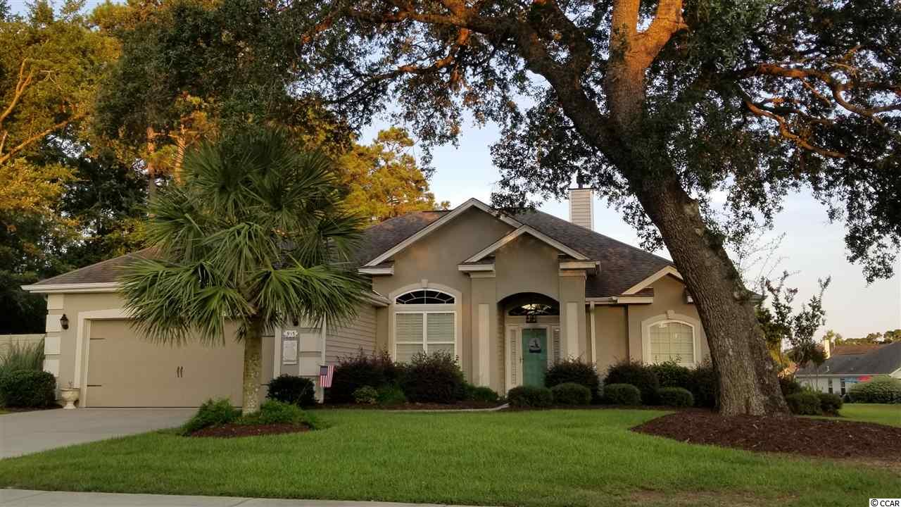 Beautiful gas community east of Hwy 17 in Surfside, HTC fiber optic, street lights, sidewalks, great neighborhood of 49 lots. Single level ranch, granite counter tops, plantation shutters throughout, new carpet, stainless appliances, fireplace, gas water heater, screen porch, patio with pavers, split floor plan, formal dining room, several built ins in house and garage. Corner lot. House is in perfect condition. Private lot as is first house in subdivision off 10th Ave North and is bordered on left side with the berm and has expansive right side and back yard.