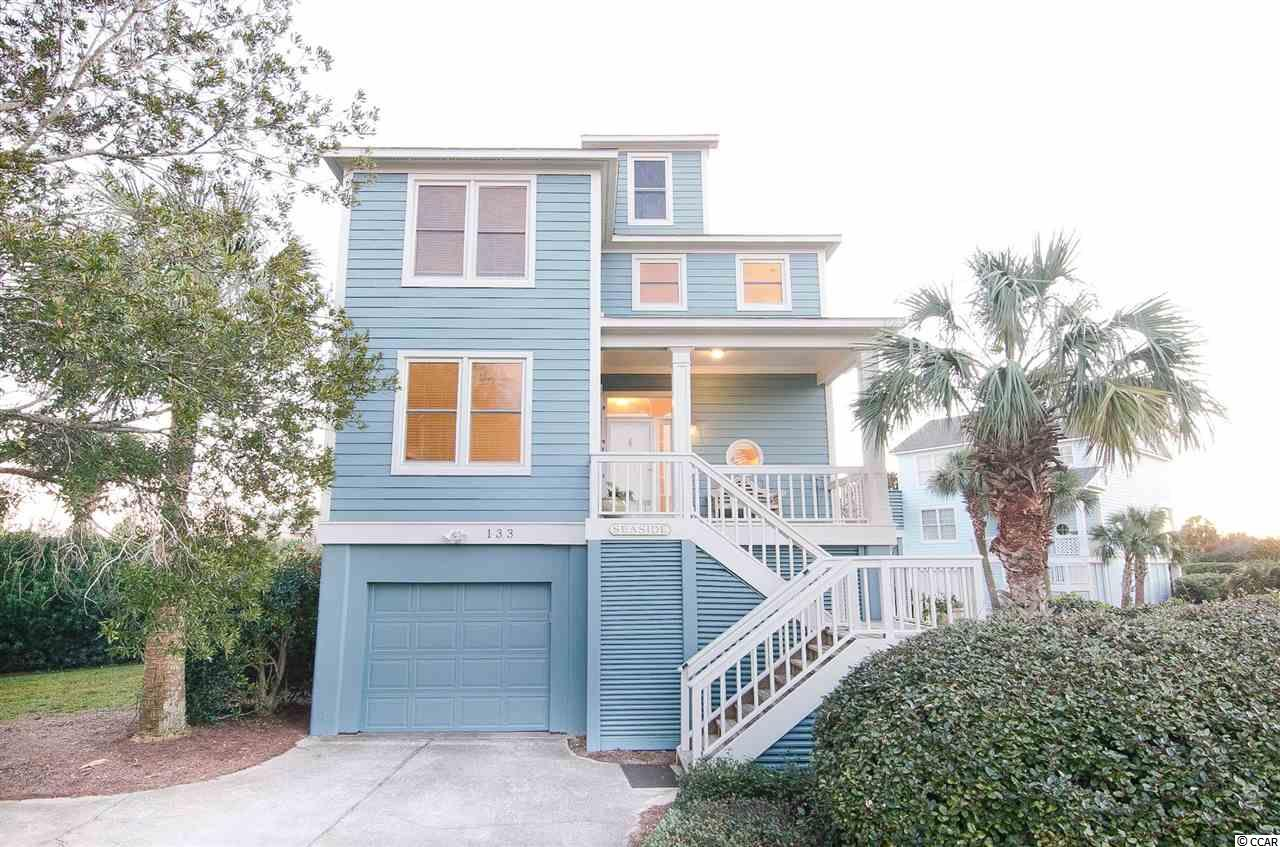 Great home in the coastal community of The Rookery located within the gates of Litchfield by the Sea.  Spacious with open floor plan, updated kitchen with granite countertops, beautiful antique heart pine floors throughout downstairs!  Comfortable living area and back porch with views across the pond to the new Beach Club on the Atlantic Ocean!  Upstairs widows walk has views of the ocean!  Best views in Rookery and just steps away to the beach!  Other features include gas fireplace, large master bathroom with separate jacuzzi tub and shower, wetbar in family room, tiled floors and more.  Views of the beach from the master bedroom!!!  Elevator shaft in place.  Litchfield by the Sea is a gated community with miles of walking/biking trails, private beach clubhouse, fishing/crabbing piers and lighted tennis courts.  Litchfield is just a 70 mile day trip to enjoy historic Charleston, SC or a 25 mile drive to the attractions of Myrtle Beach.