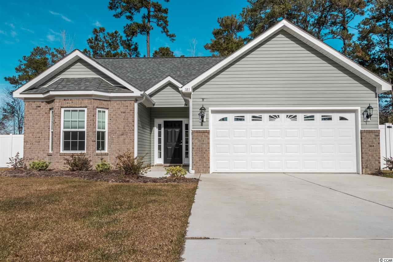 Like new home with Granite Countertops, Soft Close Cabinets, Stainless Steel Appliances including Refrigerator, Laminate, Carpet, and Tile Floors, Detailed Molding, Screen Porch, and Fenced Yard. Home is located in a Cul de Sac. Close to Market Commons and approximately 7 miles to the beach.