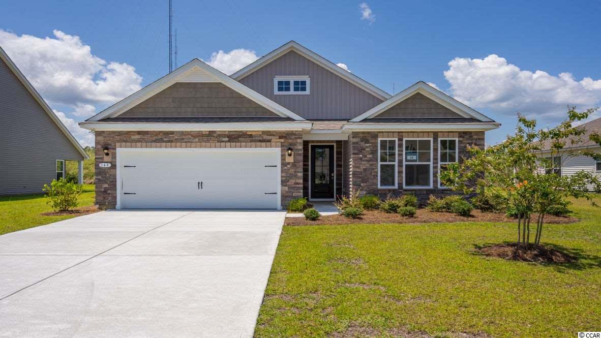 """Inlet Reserve is the place you want to call home! This is a natural gas community featuring 69 spacious homesites with private and pond views, conveniently tucked away in the heart of Murrells Inlet , yet just a short drive to championship golf courses, marinas, shopping, hospitals, beaches and the Marsh Walk where you'll find year round entertainment and award winning restaurants with spectacular views of the salt marsh and wild life.  If you are looking to downsize, upsize, or to add a pool and create your own outdoor living space, Inlet Reserve has the homesite and home for you.  We offer a mix of 1 story and 2 story thoughtfully designed open living floor plans, perfect for entertaining family and friends. The Bradford D is a very comfortable 1 story home that features  shaker and stacked stone accents on the front elevation, 3 bedrooms, 3 bathrooms, Flex room with French doors, 2nd level bonus room and crown molding, 5 1/4"""" baseboard, trimmed out windows and 8ft. entry door.This home offers a spacious kitchen 36"""" staggered height cabinets , granite countertops which includes a large gourmet island overlooking the family room, pantry, Glass tile back splash, pendant lights and stainless steel appliances. This open floor plan is perfect for entertaining friends and family. 5"""" Wood floors throughout the main living area. Owners suite and bath offers a huge walk-in closet, 5 ft. walk-in tile shower, double vanities and bowls. Split floor plan with 2 nice size guest rooms on the first floor, walk-in attic space on the 2nd floor and a  huge extended Rear Covered Porch with private view!  Tasteful interior touches run throughout the house to finish off this must see home. Pictures are of a previous built home and model and are for representation purposes only. Ask about our included Smart Home Connection! Call and schedule your appointment today!"""