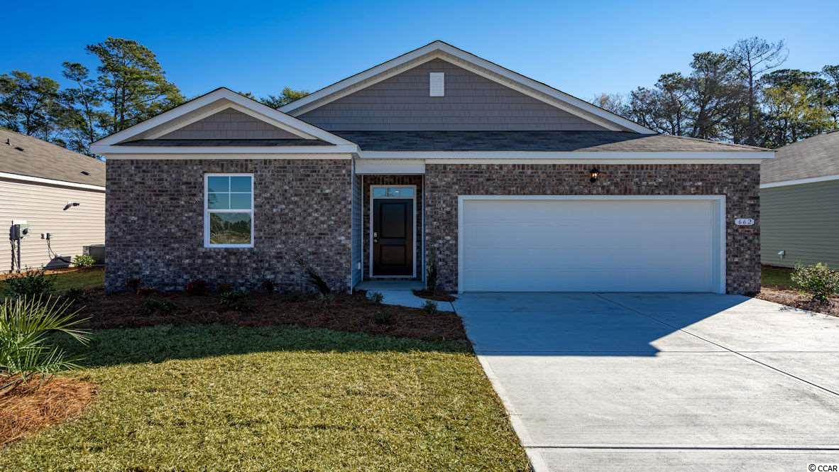 The Kerry plan is a spacious, one level home perfect for any stage of life. The open concept kitchen, living, and dining area with access to the covered rear porch from the kitchen is ideal for entertaining and grilling! Features include granite countertops, a fabulous pantry, and large island with breakfast bar. The private master suite offers a large walk-in closet, dual vanity, and 5' shower. Conveniences like a tankless water heater, low maintenance hardwood look rigid core board vinyl flooring in the main living areas, baths, and laundry, and our Home Is Connected package are also included. *Photos are of a similar Kerry plan.