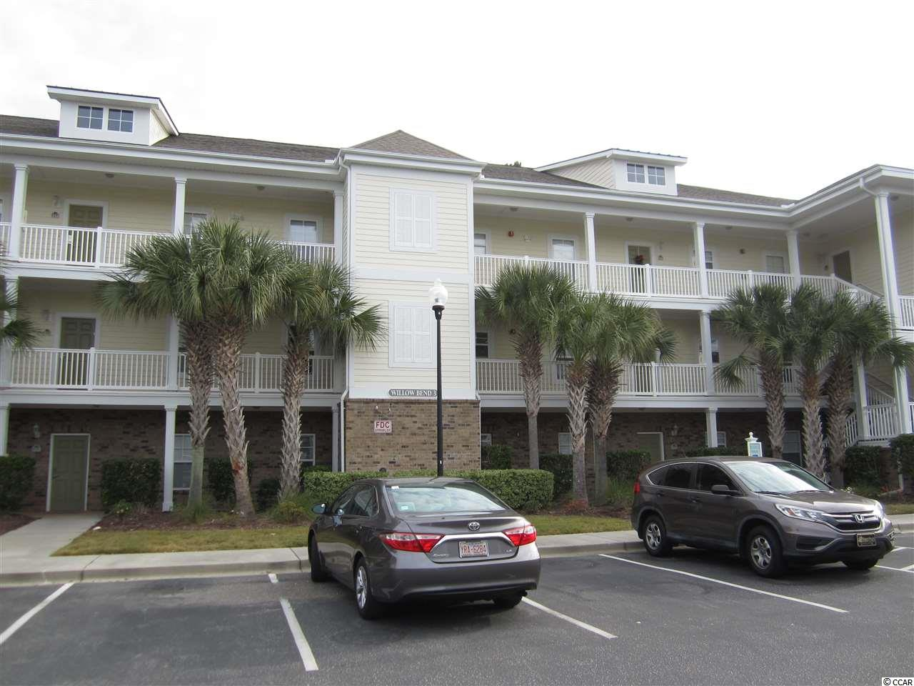 Here is your opportunity to own a well maintained 2 bedroom/2 bath condo at Barefoot's Willow Bend.  HVAC replaced in 2015, Water heater and carpet replaced in 2017. Both bathrooms freshly painted.  Sit on your 13 x 7 balcony overlooking the golf course and enjoy the tranquil natural setting.  Sold fully furnished, and higher ceilings make the space seem even larger than it is.  Storage closet on the back balcony for your beach chairs. Weekly or Annual rentals are allowed which gives you many possibilities or use it for your Golf getaway or 2nd home. An owner of a Barefoot property has the privilege to use the Barefoot Beach Cabana and if you don't want to drive to the Beach take the shuttle. Willow Bend has an outdoor pool and picnic area with grills. This condo has a transferrable Barefoot Social membership.   Measurements are approximate, Buyer to verify.