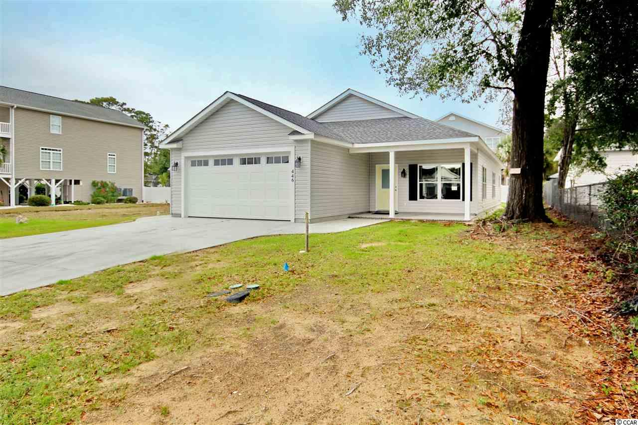 RARE FIND EAST of Highway 17 Business in Garden City Beach! Beautiful NEW construction SINGLE STORY, 3 bedroom, 2 full bath, 2 car garage home ready NOW! Open floor plan and plenty of room to relax and entertain family & friends while only a 1 minute golf cart ride to the beautiful beaches of Garden City! Stainless steel appliances, Quartz kitchen counter tops, custom cabinets, beautiful flooring too! NO HOA which means no restrictions, no fees! Great location, only 5 minutes to Murrells Inlet with all the great dining, entertainment, fishing and attractions this Historic Waterfront community has to offer. 5 minutes to Waccamaw Hosp and Inlet Square Mall! If you love the South Strand don't miss this rare opportunity to own your place at the beach!