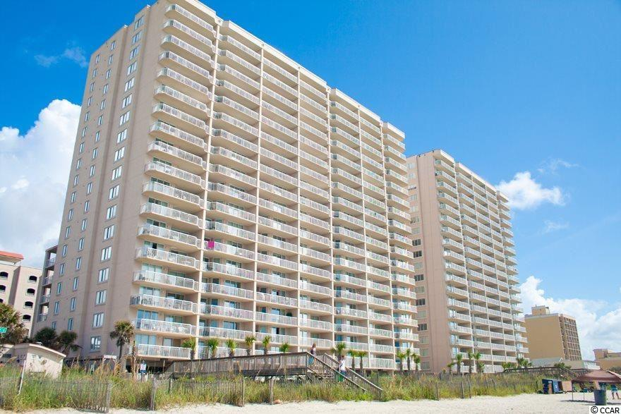 Incredible views of the Atlantic Ocean from this spacious 4 bedroom 3 bathroom unit located in Crescent Shores of Crescent Beach! A beautifully tiled foyer and hallway will lead you to your delightfully open kitchen, dining and oceanfront living area. Fully equipped kitchen boasts beautiful wood cabinets, tile floor and gorgeous granite counter-tops! Corner unit offers added light from dining room window as well as additional view of the beach. A large, expansive oceanfront balcony is accessible through both the living room and master bedroom. Master bedroom suite also offers walk-in closet and Master bathroom with double sink vanity,Jacuzzi tub and separate shower. Crescent Shores offers awesome amenities, including a 110 ft. Oceanfront Pool, 2 Hot Tubs, a kiddiePool, a lazy River, an indoor Pool, and a fitness/exercise Room!  Notable unit upgrades to be aware of:  1. Installed tile in the Great Room so that everything but bedrooms are tiled. 2. Installed white bead board throughout the entry hall.  This holds up well with people coming in/out and banging walls with luggage and others vacation items.  3. Installed all high boy toilets  4. Installed a tile back splash  5.  Installed tile at area under eat in bar where feet go. Keeps it easy to maintain.   6. Installed in new dishwasher, fridge, range/over and microwave in last several years.   7. Installed new  HVAC in 2015.