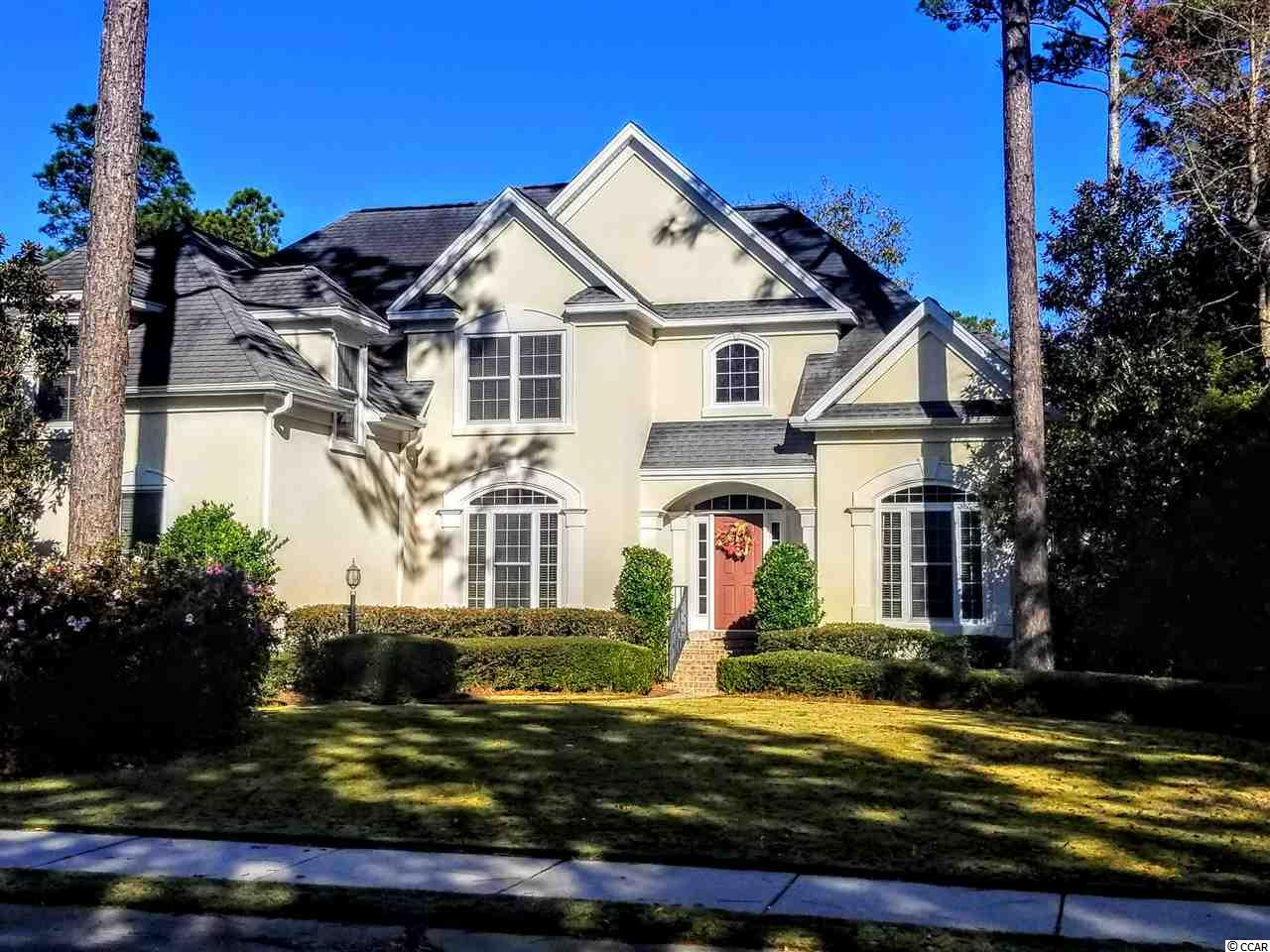 Amazing golf course view is what you can wake up to every day from this 4+ bedroom custom built home on the 5th tee of TPC golf course, a Fazio designed championship course, Golf Digest's only 5-star golf course on the Grand Strand. Highwood is a gated, custom home neighborhood in the Prince Creek section of Murrells Inlet, with lots of mature trees and ponds.  This 4+ bedroom home was built by a local custom home builder, Rabon Construction, originally as his own home. The well-thought out layout is unique. Both the master bedroom and a spare bedroom are on the first floor, separated by the main living area, large eat-in kitchen, formal dining room and sitting room\office area. The second floor includes two additional bedrooms, a guest bath, loft/living area with wet bar and lots of built-in cabinets, as well as a finished bonus room over the garage which can be used as an exercise room, man cave, 5th bedroom, etc. Lots of storage upstairs with access to floored attic areas in addition to the side load 2 car garage. HVAC system was replaced in 2014. Home is like new - barely lived in. Come see this exceptional home with an exceptional view for yourself. TPC golf memberships are available but not required. Just a few miles from the famous Murrells Inlet Marshwalk. Lots of shopping and restaurants nearby. Awesome location and awesome home. Square footage is approximate and not guaranteed. Buyer is responsible for verification.
