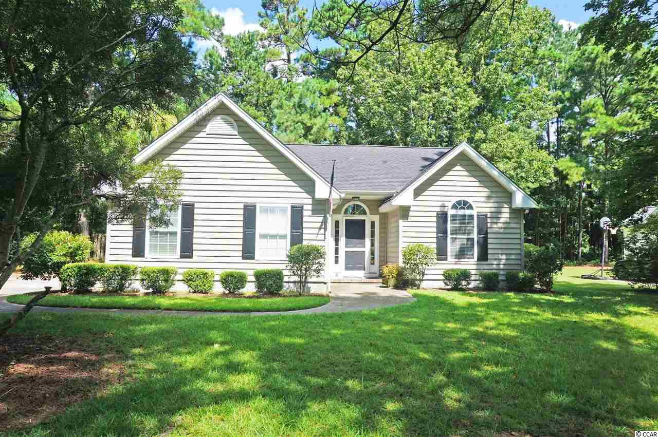 Investment opportunity in the heart of Pawleys Island, SC.  3 bedroom/ 2 bath home in desired Pawleys Retreat.  One story home with a split bedroom plan.  Large great room with vaulted ceilings, laminate flooring, and ceiling fan with light.  Kitchen with granite counter tops and eat-in area.  Formal dining room off of kitchen for easy access for dinner parties or occasions.  Master bedroom with vaulted ceilings and walk-in master closet and master bathroom with tub/shower and dual sinks.  Large fenced in back yard for the family dog and plenty of space for outdoor activities.  Ceiling fans with lights and carpet in all 3 bedrooms.  Close to area schools and minutes from the beach.  Championships golf courses, dining, night life, and shopping within minutes as well.  Myrtle Beach 25 miles, Georgetown 10 miles, and Historic Charleston 70 miles south.  Recent updates to include new HVAC, entire interior repainted, vanity lights replaced in both bathrooms, and replaced sliding glass door in great room.