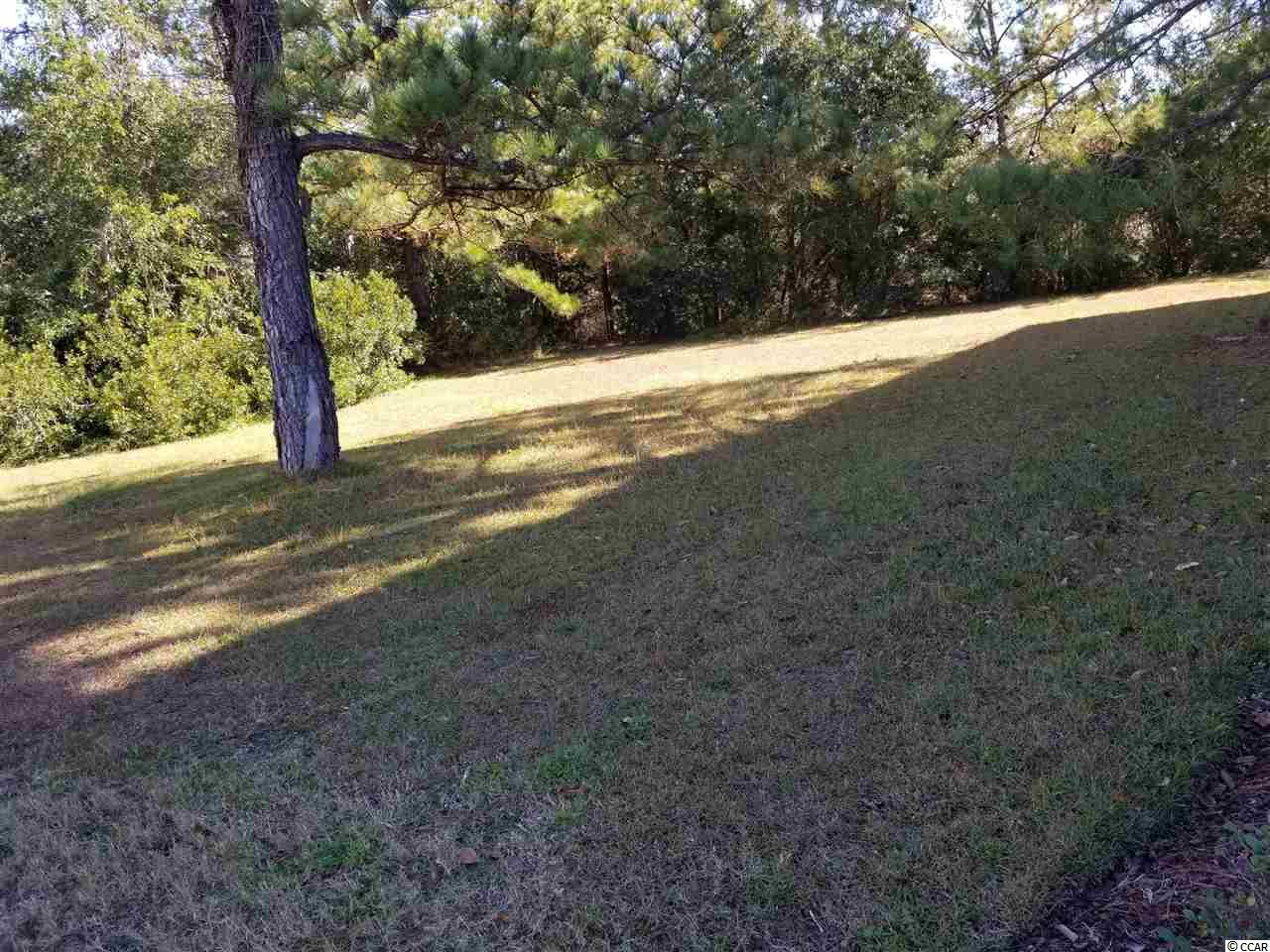 What a great place to call home when you build your dream home. This property is located in a private enclave across a wooden bridge nestled between the Intra- Coastal waterway and Tidewater Plantation golf course. This quaint community has a dock across the street from this parcel on the Waterway for the use of owners and an additional pool as well. Tidewater Plantation has many resort style amenities including an oceanfront beach cabana for its owners with facilities.