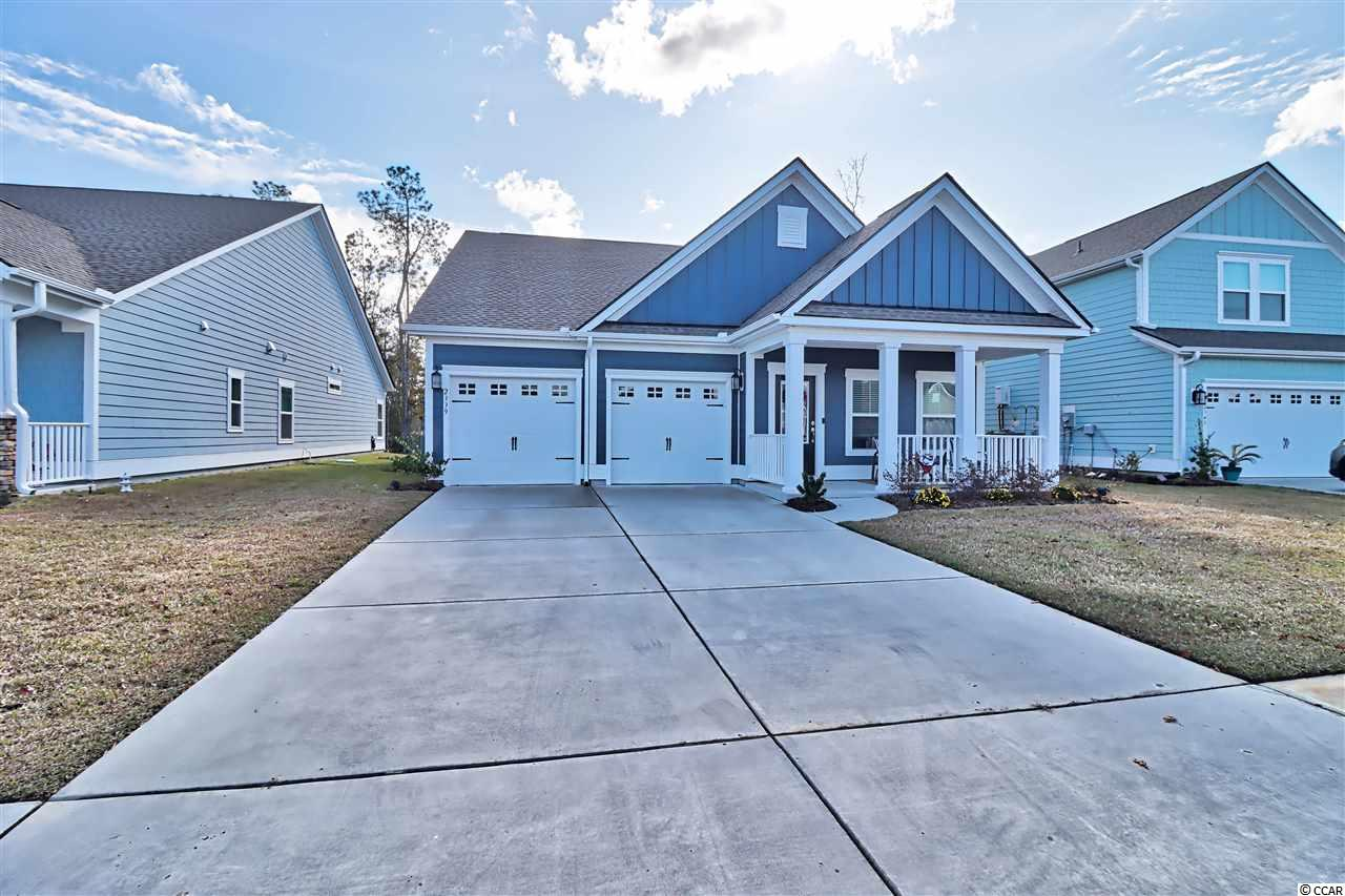 """Schedule your showing today! You must see this 4 Bedroom, 3 Bath, 2 car garage including a BONUS ROOM upstairs. Home built in 2018 and rarely used! Located in the community of Belle Harbor nestled in the pristine community of Market Commons. Only a short Golf Cart Ride to the beach, shopping, dining and entertainment! As you enter the home you are greeted by a bright and welcoming space. This residence offers 2 separate living areas, a spacious Kitchen with fabulous features galore! Wood Laminate Flooring and Granite Throughout, Stainless Steel Appliances, Gas Range, Updated Cabinets, Large Pantry, Covered Patio and A """"Smart Home"""" Feature. The property has been well maintained with many additions including: Blinds, Irrigation system, ceiling fans and gutters. A select pieces of furnishings are negotiable! Sit and relax on your big front porch and enjoy everything this community has to offer. You will love the Belle Harbor lifestyle and amenities!"""