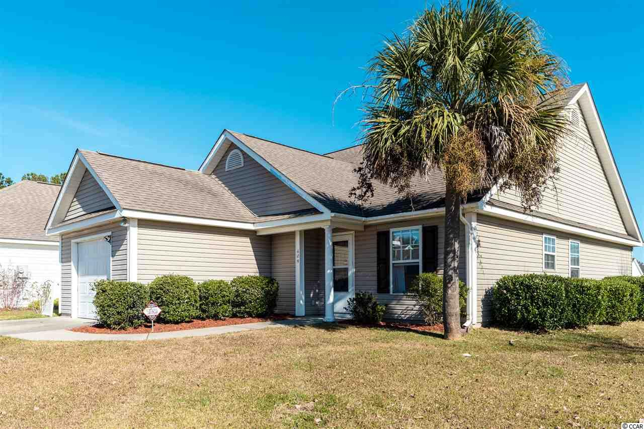 Great corner lot that backs up to common area of the community. HVAC is only 1 year old. Large living room with vaulted ceiling. Double driveway for extra parking. All appliance are included. Low HOA includes cable and trash pickup.