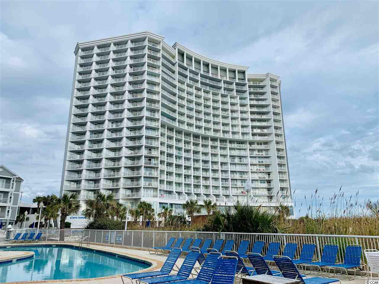 Your wait is over! This ocean front 1 bedroom 1 bath unit on the 16th floor of Seawatch North Tower, offers extra square footage being above the 11th floor with a Murphy bed. Enjoy your updated living room with smooth ceilings, upgraded flooring and beautiful views of the Atlantic Ocean. Onsite you'll enjoy multiple amenities including indoor and outdoor pools, lazy rivers, restaurants and an exercise room. These units don't last long, schedule your showing today!