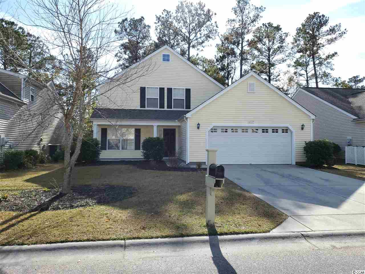 Absolutely charming 4BR/3.5BA home in popular Farm neighborhood in Carolina Forest.  Just minutes from the beach and convenient to Myrtle Beach International Airport and all Myrtle Beach shopping, dining, entertainment and golf.  The Farm offers amazing amenities such as pools, clubhouse, playground, basketball court, fitness and access to desirable Ocean Bay schools.  This home is situated on a wooded home site providing shade, privacy and serenity.  Inside you walk into a spacious great room.  The two car garage with laundry area is just off the great room.  A half bath is conveniently located in between the kitchen and great room.  The large eat in kitchen is bright and airy with plenty of cabinets and additional storage in the pantry.  A downstairs bedroom suite with a walk in closet and full bath with vanity, and tub/shower make this the perfect second master or guest bedroom.  Upstairs you have a spacious master bedroom with vaulted ceiling, lots of closet space and on suite bath boasting a dual sink vanity, tub/shower, linen closet and private toilet room.  On the other side of the upstairs hallway you have 2 spacious bedrooms with vaulted ceilings that share a hall bath.  This home has only been used as a second home and never rented.  New HVAC 2 years ago and all appliances including the washer/dryer are included.  There is also the possibility of being sold furnished. Don't miss this opportunity, this one won't be on the market long!  Be sure to check out the all immersive 3D virtual tour and schedule your showing today!