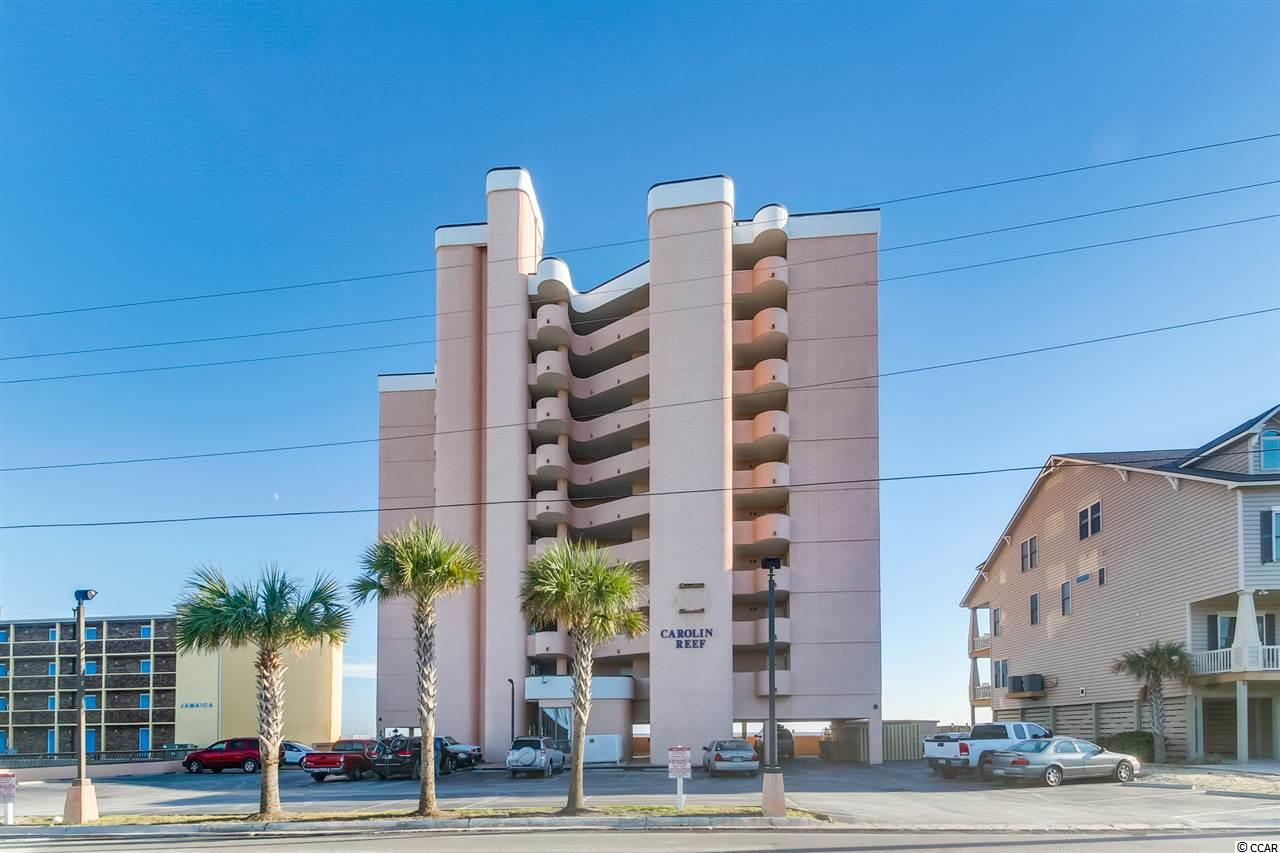 Carolina Reef 1BR/1BA oceanfront condo with beautiful views! This condo has many quality upgrades & is beautifully decorated!  Property offers outdoor pool, hot tub, and kiddie pool, elevator building.