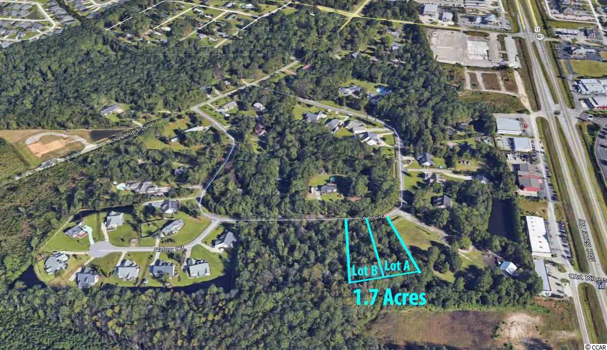Rare 1.70 Acre residential lot located just off of Hwy 17 Bypass in Lee Circle in Murrells Inlet. This is great opportunity to own a large residential lot in the heart of Murrells Inlet. Lee Circle is conveniently located behind Hwy 17 Bypass just off of McDowell Shortcut Rd. This is not located within a subdivision so you have endless options on the type of home to build. Lots can be subdivided. All information is deemed reliable but not guaranteed. Buyer is responsible for verification.