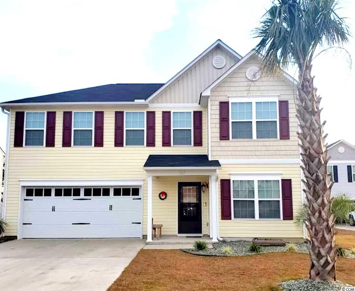 Are you looking for a spacious home located within 5 minutes of Cherry Grove Beach? This is it! This spacious home was built in 2018 and has 4 bedrooms and 2 and half bath. There is a very large master bedroom with walk in closet. Master bathroom includes garden tub, shower, and double bowl sink. Home has been upgraded with all new kitchen stainless steel appliances. Upstairs features 3 bedrooms with a large bonus room. Need an office area? There is a study / office located downstairs. Do you have pets and need fencing or just desire back yard privacy? A six foot vinyl privacy fence is already in place in the back yard. The backyard features a hot tub that sits next to a large concrete patio and there are 2 detached buildings in the back yard for storage. North Myrtle Beach schools, shopping, hospital, and everything else that North Myrtle Beach has to offer is just a short drive away. Hwy 22 is less than 10 minutes drive to the home for easy access to anywhere in the county. Don't miss out on your opportunity to own this spacious home located within 5 minutes of the beach. Schedule your showing.