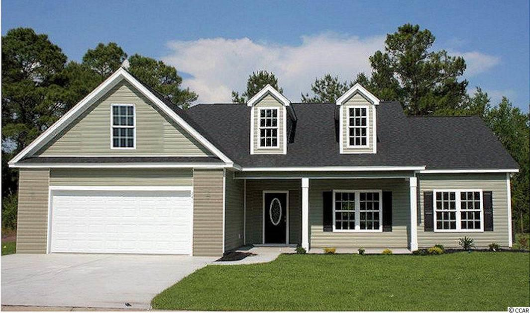 River's Run is a new small community just off Hwy 501 and Four Mile Road in Conway. Large ½+ acre lots. No HOA fee, basic CC&R's. The Chestnut is a plan that incorporates an outstanding list of included features in a very competitively priced new home. Relaxing front porch, open floor plan, split bedrooms, foyer, and formal dining room with tray ceiling. Kitchen has stainless steel appliances, solid wood cabinets with crown molding, pantry closet, breakfast counter, lots of countertop space and a breakfast nook. Spacious living room with vaulted ceiling, fan with light. Private 14'x19' master suite with bay window/sitting area, huge walk-in closet, garden tub plus separate 5' shower and raised height double vanity. Large guest bedrooms. Rear screen porch and patio. Our homes are built with a minimum 9' smooth ceilings, 30 year architectural roof shingles, gutters, landscaped yard with irrigation system included. Fully finished and painted garages with automatic door opener and pull down stairs to attic storage. Can park your RV or boat at your house. Just 30 minutes away from Myrtle Beach and all the fun, food and entertainment you expect! Photos and video are for illustrative purposes only and may be of similar house built elsewhere. Square footage is approximate and not guaranteed. Buyer is responsible for verification.