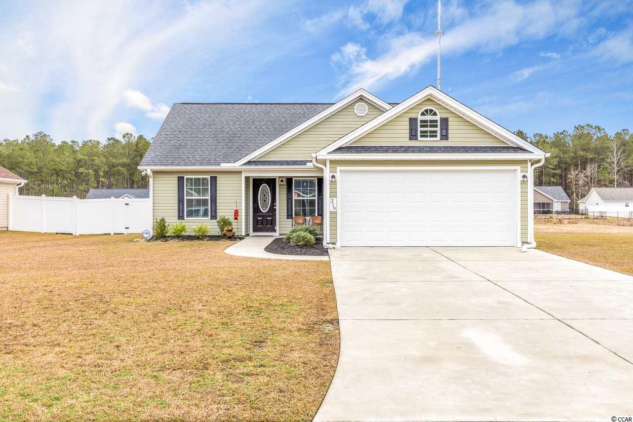 Welcome home to this 3 bedrooms, 2 bath, one-level home in Conway in the Aynor school district. It has a fenced yard on .23 acres and is situated right beside a lot that can never be built on! There is plenty of outside space. Inside, the owners' suite has tray ceilings, double vanity, walk-in shower, and it's own thermostat. The kitchen has granite countertops, a breakfast nook and access to the backyard. With the extended driveway and 2-car garage, there is plenty of parking. Enjoy an unobstructed view of the pond in the back yard as well.  In the Aynor school district, it is close to schools, downtown Conway, has access to Hwy 501 and Hwy 22. Low HOA, paid annually. Schedule your showing today!