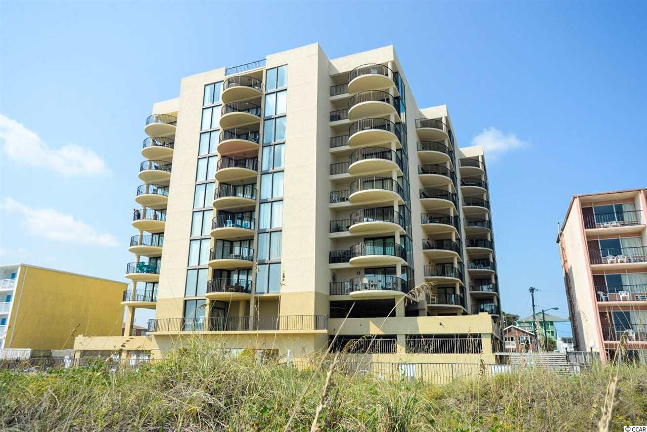 Large three bedroom, 2 bathroom, sixth floor, fully furnished, great ocean view unit in the Sea Castle building in North Myrtle Beach. This unit has tile floors, a recently renovated master bathroom and floor to ceiling windows to maximize ocean and boulevard views. Sea Castle has an oceanfront pool, bathrooms, hot tub, kiddie pool, sundeck, picnic tables, outdoor grilling area, covered parking, overflow parking and an atrium.