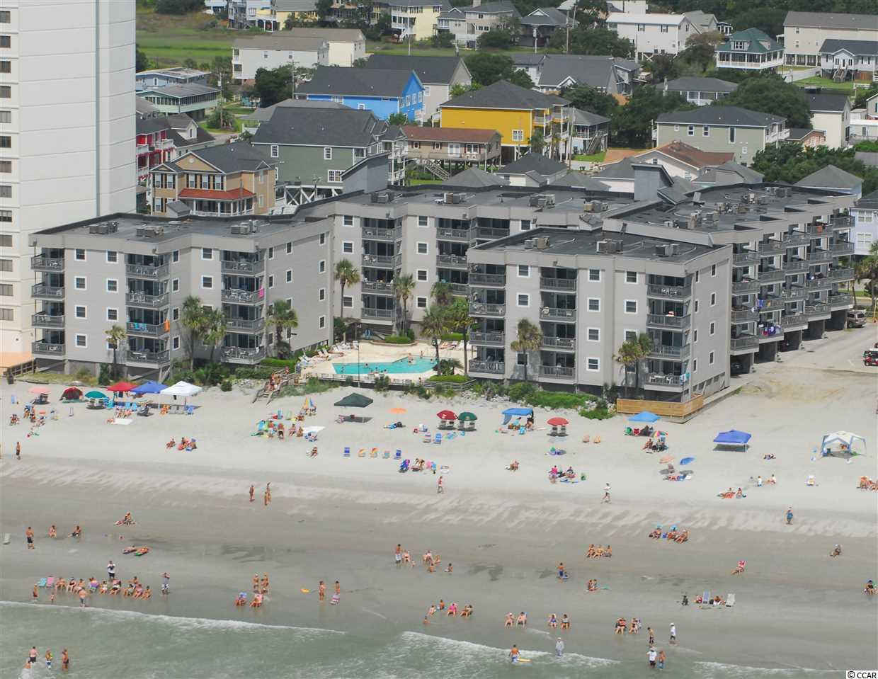 212 Sea Master is a direct oceanfront three bedroom and three full bathroom condo with approximately 1152 heated square feet. Each bedroom has ensuite bathrooms. The master suite is oceanfront with direct access to the balcony. The well-appointed kitchen has new appliances, and the condo is turnkey furnished. The large oceanfront living room and dining areas lead to a private balcony featuring uninterrupted views of the beach and ocean. Sea Master is a well maintained and managed complex offering owners private ground level storage, a large oceanfront pool, and sundeck. There is plentiful parking utilizing their unique annex parking lot. All this in a building with concrete fiber siding and newer impact-resistant vinyl windows and sliding glass doors.