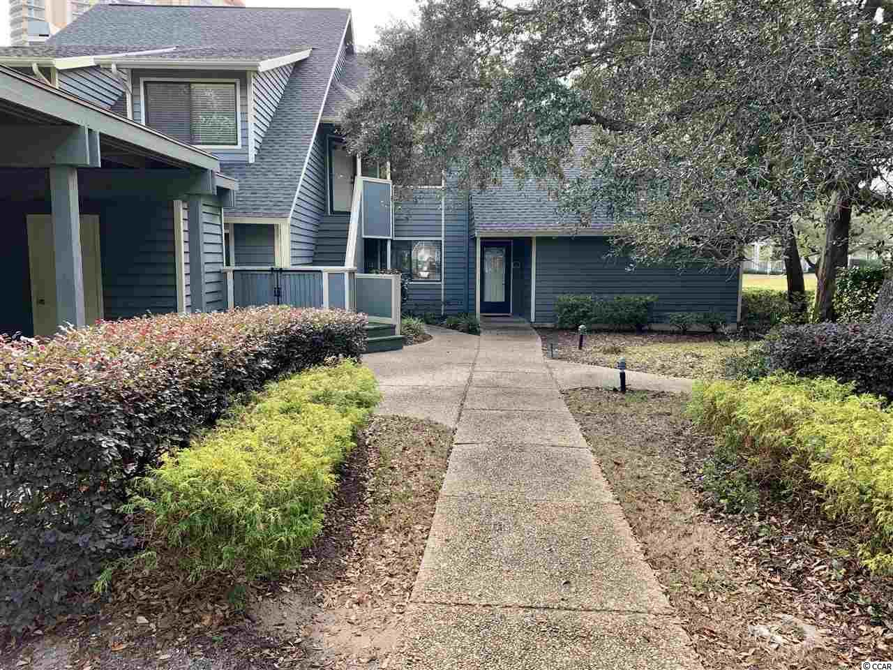 """Rare find! 1 bedroom in St James Park here in Kingston Plantation. In this oceanfront gated community you will find this beautiful spacious 1 bedroom first floor condo. The HVAC was just replaced at the end of December 2019. This community is surrounded by nature, with ponds, lakes, paths, walking distance to the ocean and access to many incredible aminites. Located on the north end of Myrtle Beach, you will find this quite community memoriable, and a nice oasis from the hustle and busle. Just a short drive away from shopping and some of the best restarunts in town. St James Park is highly sought after, being one of the few communities in Kingston Plantation with covered parking and outdoor storage. If you are looking for privacy and  """"true home"""" feeling in a beach getaway, look no futher!"""