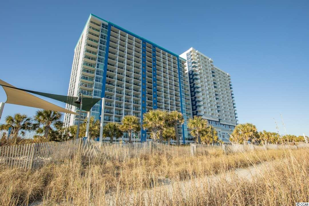 Amazing oceanfront views from this handicap accesible 2BR-2BA condo at the Bay View Resort located on the Myrtle Beach Boardwalk!  Best used as an investment property and/or a beach get-away. Enjoy fantastic views of the coastline from the oversized private oceanfront balcony that is accessible from both the Living Room and Master Bedroom. This unit features a large entry foyer, dining area, granite counter tops with breakfast bar in the kitchen and extra storage space that is unique to the building in the two locking owner's closets and cabinets. The Bay View Resort amenities include a Starbucks coffee shop, fitness center, indoor pools, lazy river, outdoor water park and quick access to the beach. The monthly HOA fee includes insurance, water/sewer, electricity, telephone, cable, internet and trash service. Centrally located in the heart of Myrtle Beach, it is in walking distance to the Sky Wheel, Boardwalk and many restaurants and just a few minutes drive to the Myrtle Beach Airport, Broadway at the Beach, Market Common and fantastic golf courses.