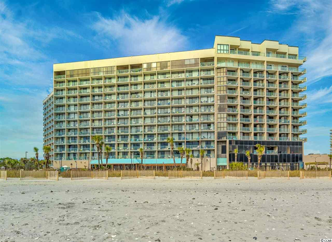 """Excellent """"Golden Mile"""" neighborhood and schools with an amazing view of the Grand Strand coastline from this 3BD/ 2BA furnished unit. Great location and easy access to all attractions, shopping, dining and all that Myrtle Beach has to offer. A great rental income or a second home property featuring tasteful tasteful decor and all utilities included in the HOA fees (electric, water, sewer, trash, cable, internet, building insurance, 2 parking passes under the building or on campus, oceanfront pool, indoor pool, lazy river and jacuzzi, fitness center, 24/7 security, plus on-site restaurants, convenience store, arcade and much more) This location is in an upper class area of million-dollar homes and enjoys a close proximity to Restaurant Row, Broadway at the Beach and many entertainment shows."""
