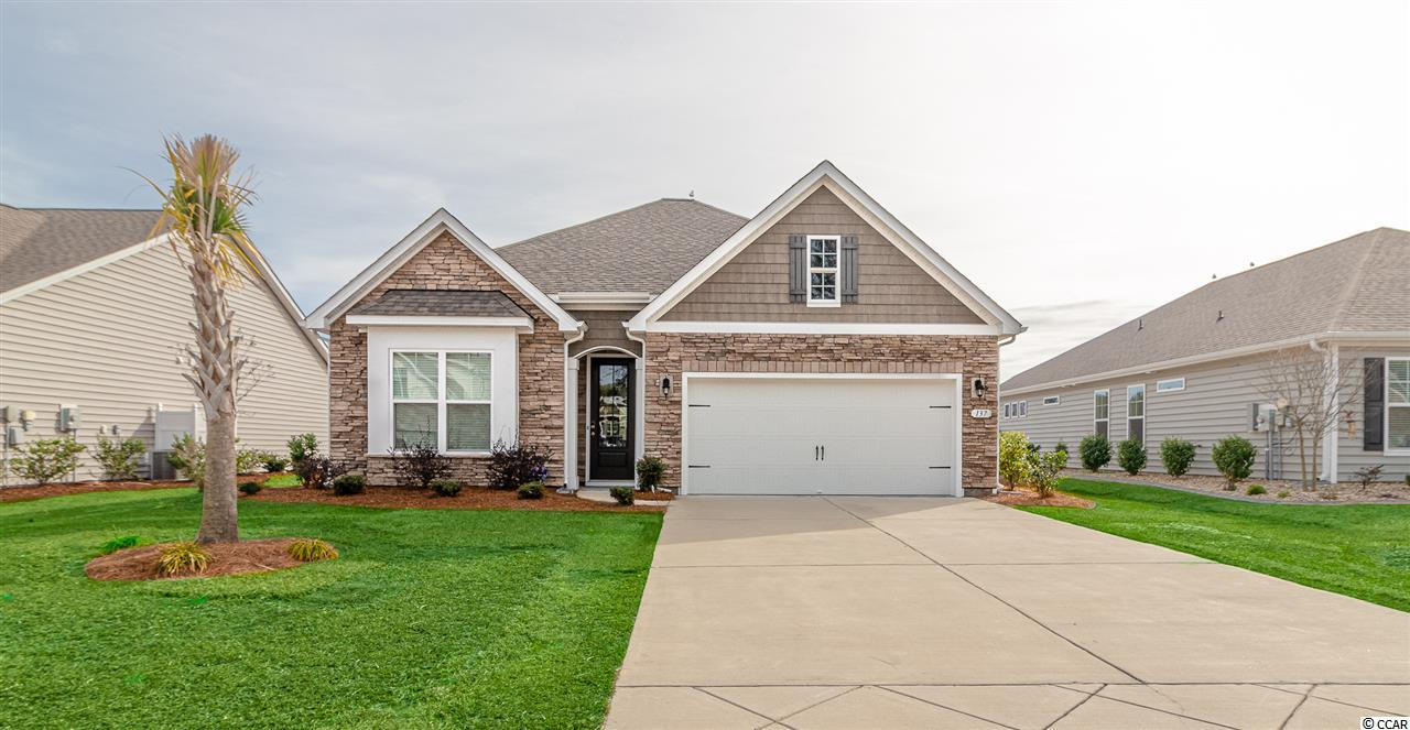 Like new, built in 2017 - 4 bedroom, 2 bathroom home available in the Preserve at Laurel Hill in Murrells Inlet. This DR Horton Home is a Claiborne C floor plan. When you arrive at this home, you will notice the welcoming front walkway, and well-kept landscaping. Upon entering, the main living area is bright and open with plenty of windows allowing natural light to pour into the home. The main living area is tile flooring and bedrooms are carpeted. The kitchen showcases Frigidaire stainless steel appliances including a natural gas stove, staggered, soft-close cabinets with granite counters, a glass tile back splash, a breakfast bar with pendant lights and recessed lighting. This home features a split bedroom plan allowing plenty of privacy. The master suite has a spacious walk-in closet, double sinks, garden tub, and separate shower. There is a screened in porch off of the living area with a beautiful fountain view of the pond - perfect for a morning cup of coffee or  entertaining with family and friends. There are also 2 concrete patios off the screened porch, with natural gas connected to the grill that conveys with the home. There is a separate laundry room with Maytag washer and dryer included. This home also features an Ecobee Smart Thermostat, and Kwikset keyless entry. This home is conveniently located near shopping, dining and entertainment and just a short drive to the beach. Measurements are not guaranteed and are the buyer's responsibility to verify.