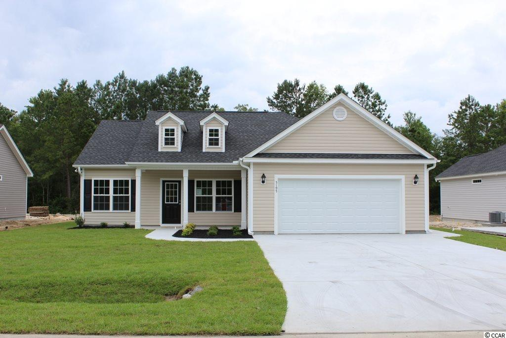 "NO HOA, large home sites! Beautiful and popular Pecan plan has open living areas, split bedrooms, front porch and large rear 6'x23' covered porch. Living area has vaulted ceiling, ceiling fan with light, spacious dining area, large kitchen with lots of upgraded white solid wood custom cabinets with crown molding and knobs, under counter lighting, stainless steel appliances, including gas stove, breakfast counter, pendant lights and pantry closet. Master bedroom has vaulted ceiling, fan with light, large walk-in closet, 5' walk-in shower, linen closet and raised height vanity with twin sinks. Split bedroom floor plan. Rinnai tankless gas water heater, gas heat. Upgraded interior trim includes 3 1/4"" casings and 5 1/4"" baseboards. Low E glass windows, energy efficient homes. Boat and RV parking allowed. Spacious finished/painted 2-car garage, with automatic door opener, pull down stairs to attic storage above. Irrigation system, gutters, sodded and landscaped yard. Natural gas community. Close to International Drive, quick/easy access to Myrtle Beach. Basic Restrictive Covenants. Photos and video are for illustrative purposes only and may be of similar home built elsewhere. Square footage is approximate and not guaranteed. Buyer is responsible for verification."
