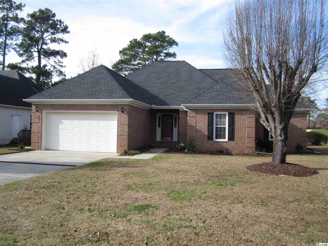 Listing a home in January can be a challenge unless it is in River Hills.  This is a golden opportunity to own an all brick home with beautiful views of the River Hills Golf course.  Golf memberships to River Hills can be purchased from inactive members or social memberships for the pool and clubhouse use are always available.  Many updates including a new roof, encapsulated crawl space, transferrable termite bond and new water heater.  Owner is offering a flooring allowance with acceptable offer, ask Listing Agent for details. Large deck for entertaining with a added screen porch.  Wood burning fireplace, 2 car garage with attic for additional storage, large kitchen with nice pantry and laundry room.  River Hills is a prestigious golf community and convenient to nice restaurants and only a short drive to the ocean.   Measurements are approximate, Buyer should verify.
