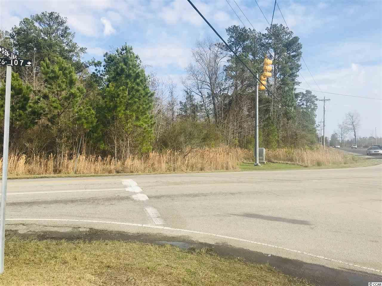 High traffic count corner with many opportunities for growth. This corner lot is zoned as Neighborhood Commercial which allows for many uses. Frontage on Cultra Road and Oak Street. At this time this property is just outside the City Limits of Conway, SC. Call the office for more information today. Conway, SC is located in Horry County SC. This lot is located just minutes from several large housing developments as well as new housing developments in progress now.