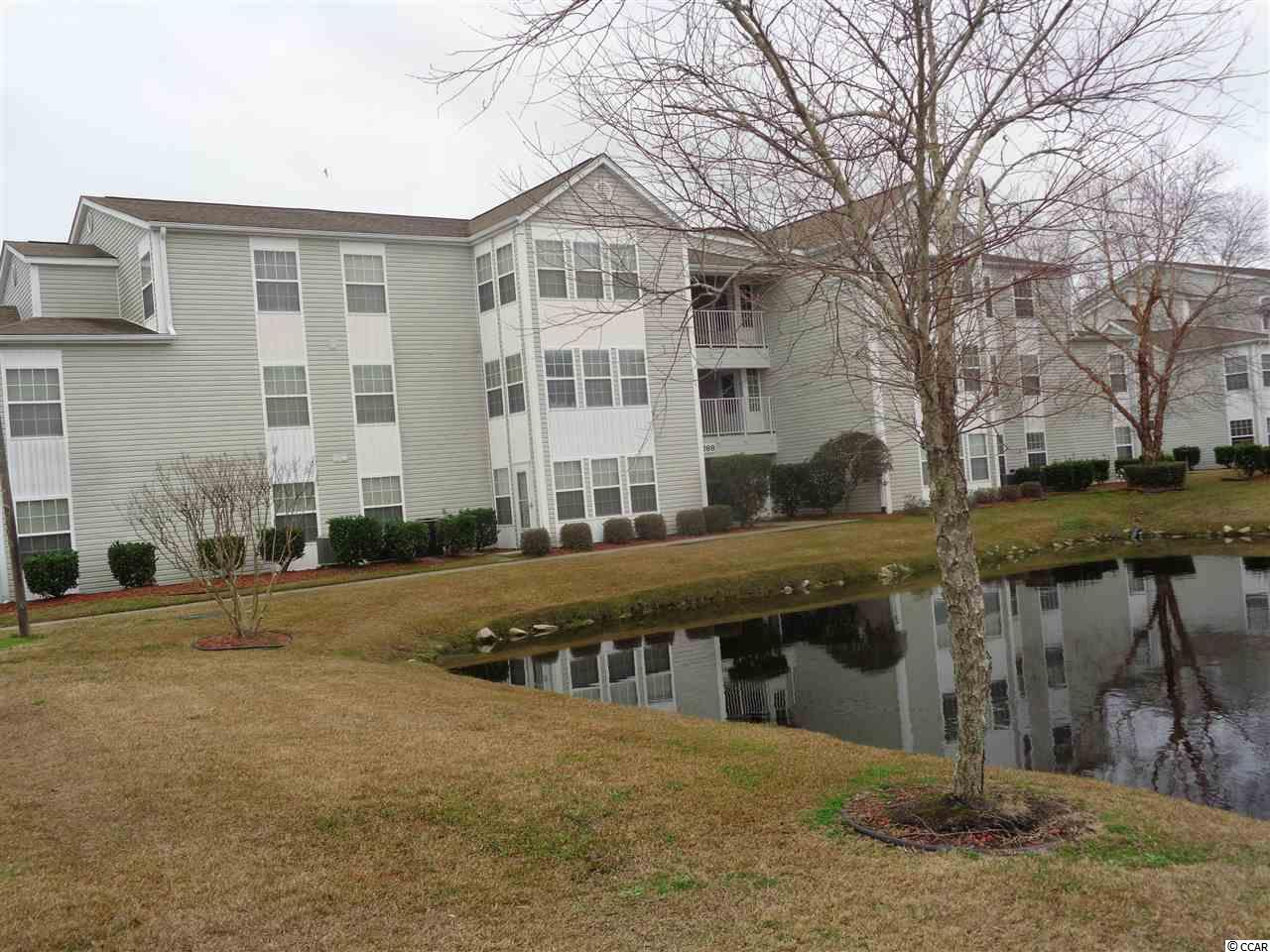 Beautiful, move in-ready and fully furnished 2 bedroom/ 2 bath unit in well maintained community of Southbridge. This condo has been used as a vacation home. There is a sun room adjacent to the great room which offers a view of the pond. The spacious great room features vaulted ceiling.  The master bed room has a walk in closet. The refrigerator and garbage disposal are new. There is a transferable home warranty which is renewable in May 2020. Surfside Beach and pier is is approximately 1.5 miles away.  The airport, Coastal Grand Mall, Broadway at the Beach, and Market Common are all just minutes away. The community offers a pool, club house, and recreation area. This unit can be a great vacation home or primary residence. Square footage approximate and not guaranteed. Buyer is responsible for verification.