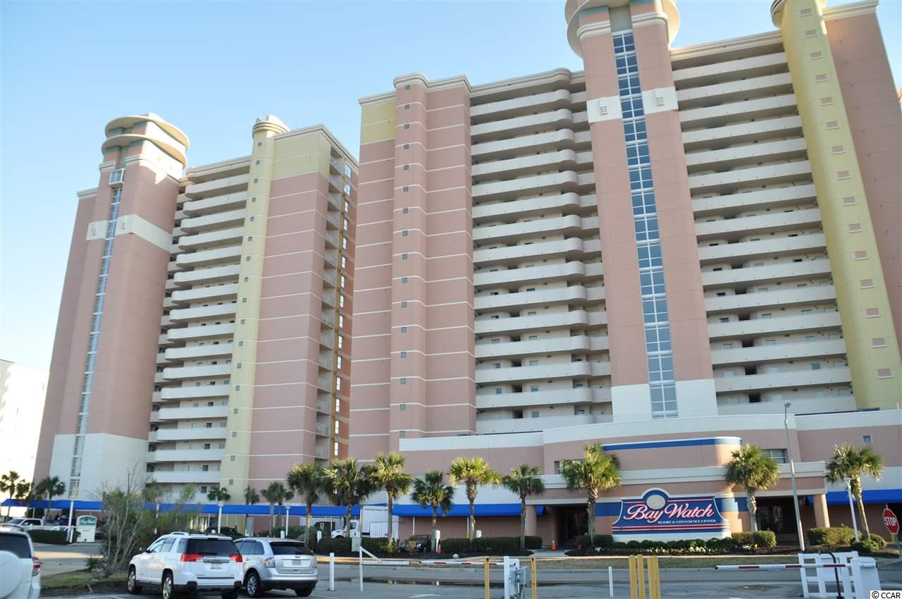 Beautiful 1 br oceanfront unit.  Sold furnished.  Excellent investment opportunity.  Great rental unit.  Baywatch has amazing amenities.  Indoor and outdoor swimming pools, lazy rivers, kiddie pools, spas, conference rooms, restaurants, bars, etc.  Beautiful wide sandy beaches.  Breathtaking ocean views.  Excellent location near shopping, restaurants, night life and everything Myrtle Beach has to offer!  Schedule your showing today.  Best deal on the beach!